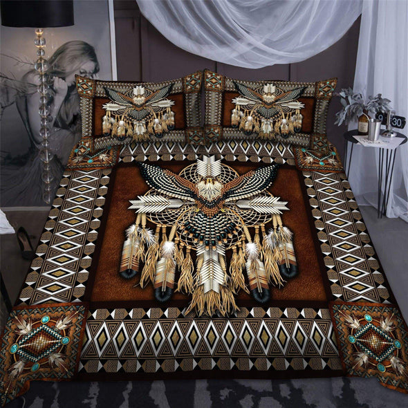 Native American Eagle And Feather Duvet Cover Bedding Set