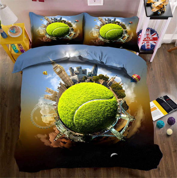 Tennis World Personalized Duvet Cover Bedding Set with Name #V