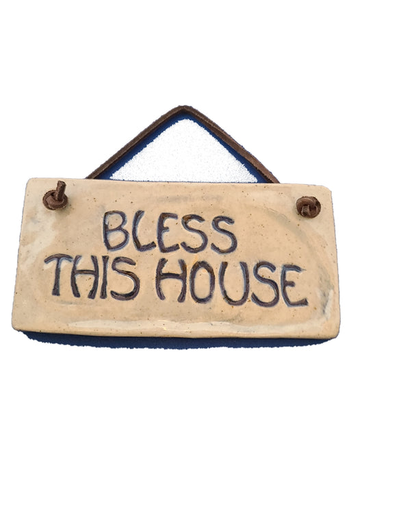 Bless this House - Pottery Plaque