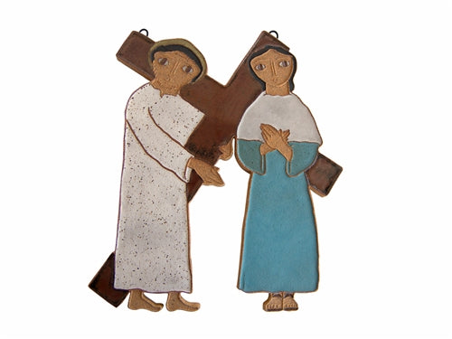 4th Station of the Cross- Jesus Meets His Mother Mary (Large)