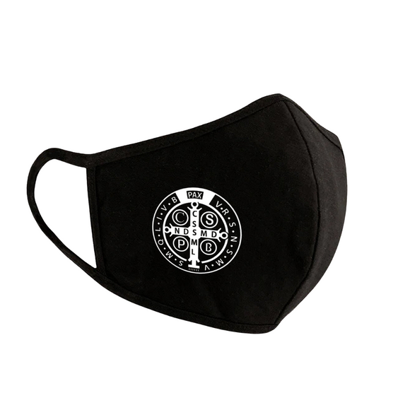 In Stock Now! Benedictine Medal Face Mask
