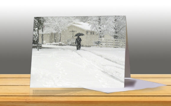 Monk in the Snow Note Card