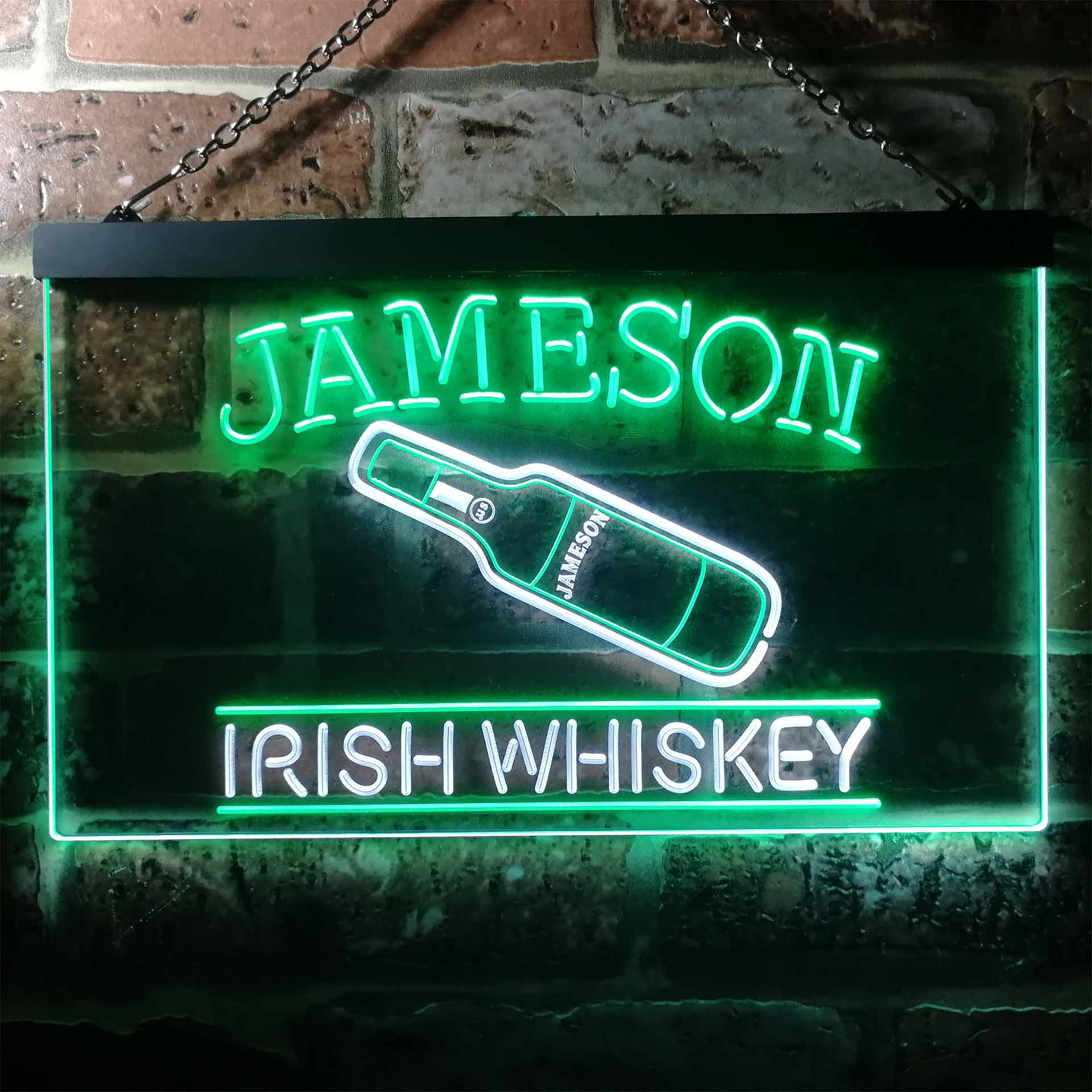 Jameson Irish Whiskey Bar Decoration Dual Color LED Neon Sign ProLedSign