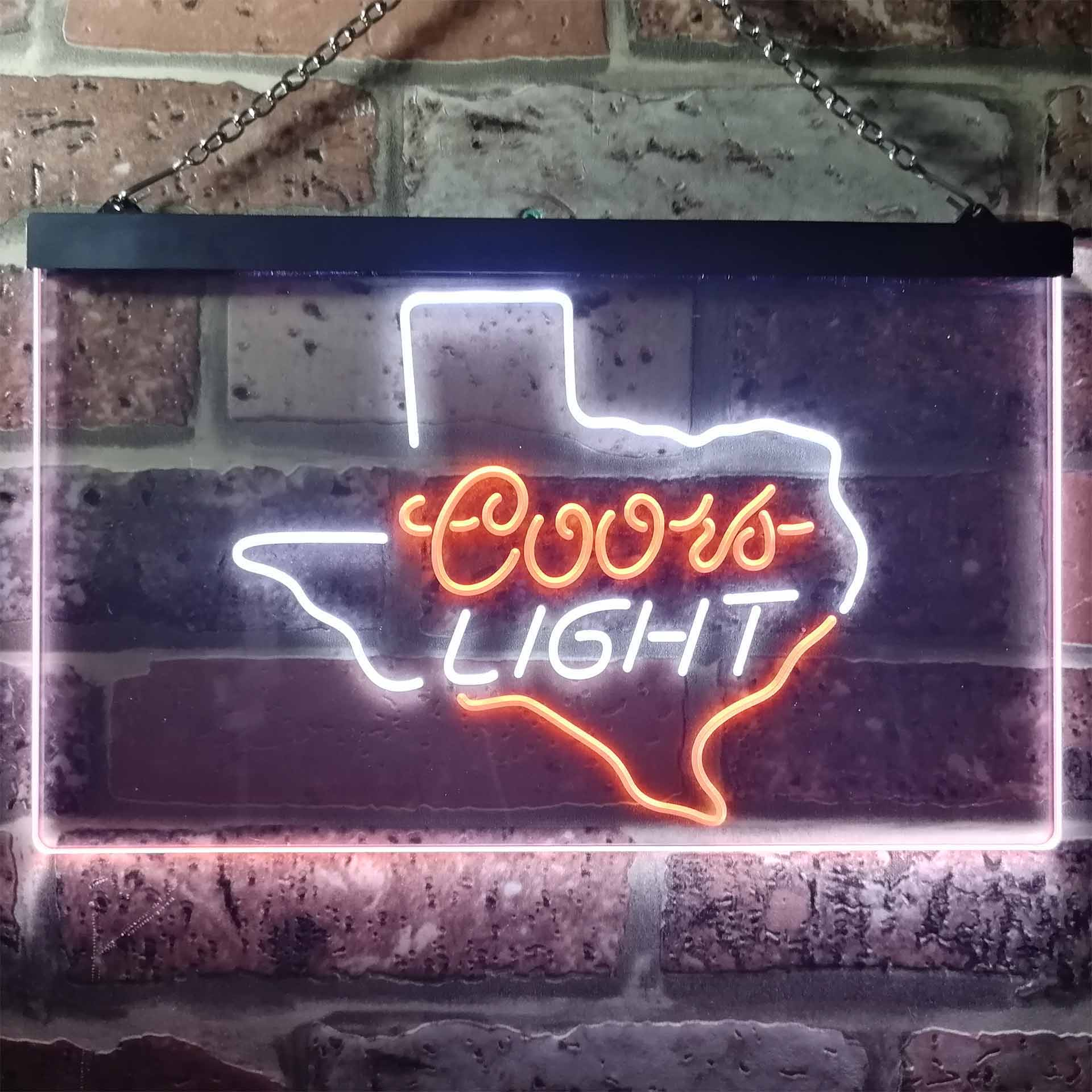 Coors Light Texas Dual Color LED Neon Sign ProLedSign