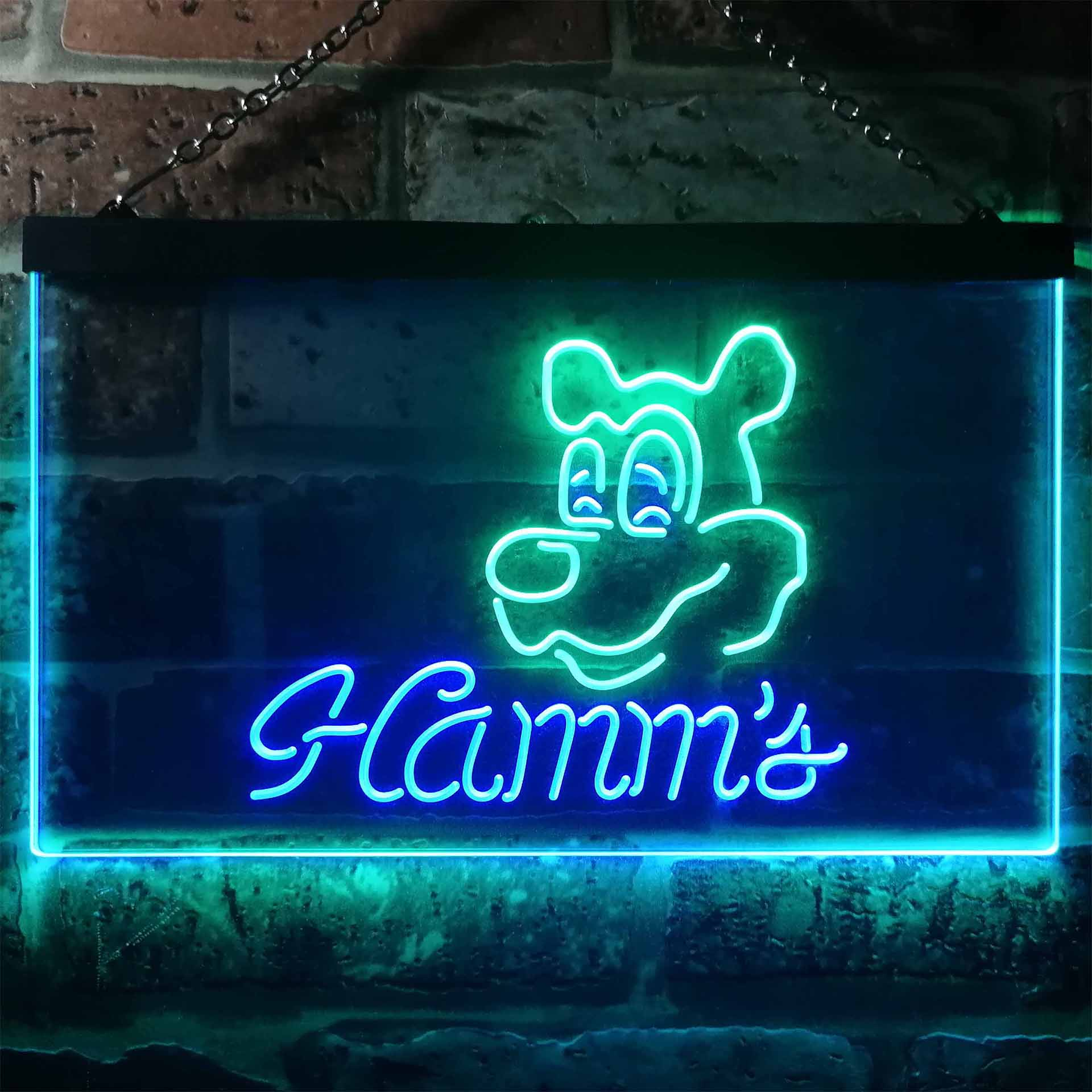 Hamm's Beer Bar Man Cave Dual Color LED Neon Sign ProLedSign