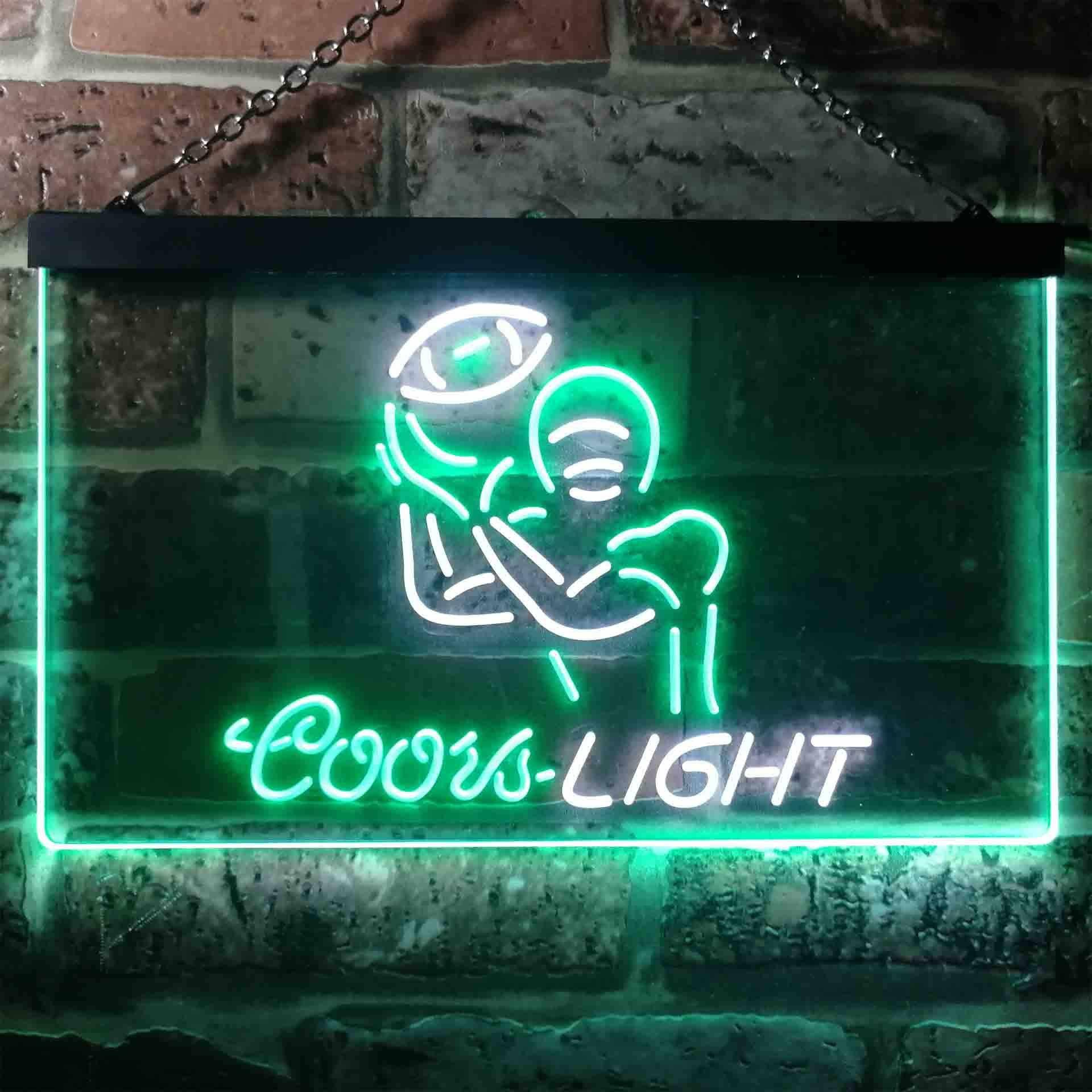Coors Light American Football Sport Dual Color LED Neon Sign ProLedSign