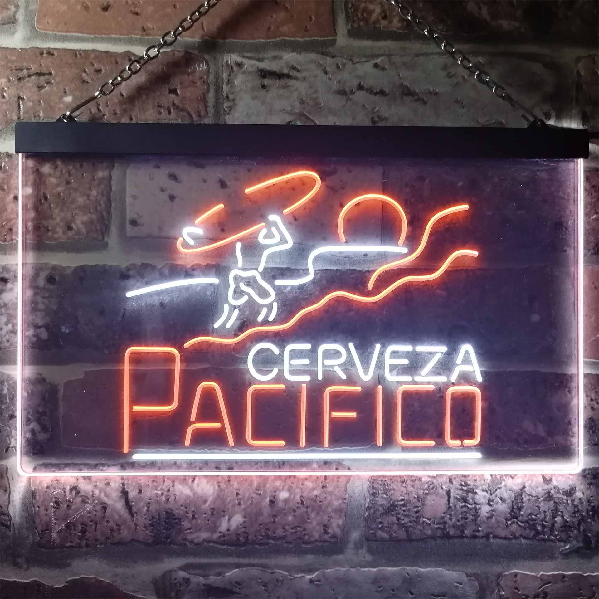 Pacifico Clara Mexican Cerveza Dual Color LED Neon Sign ProLedSign