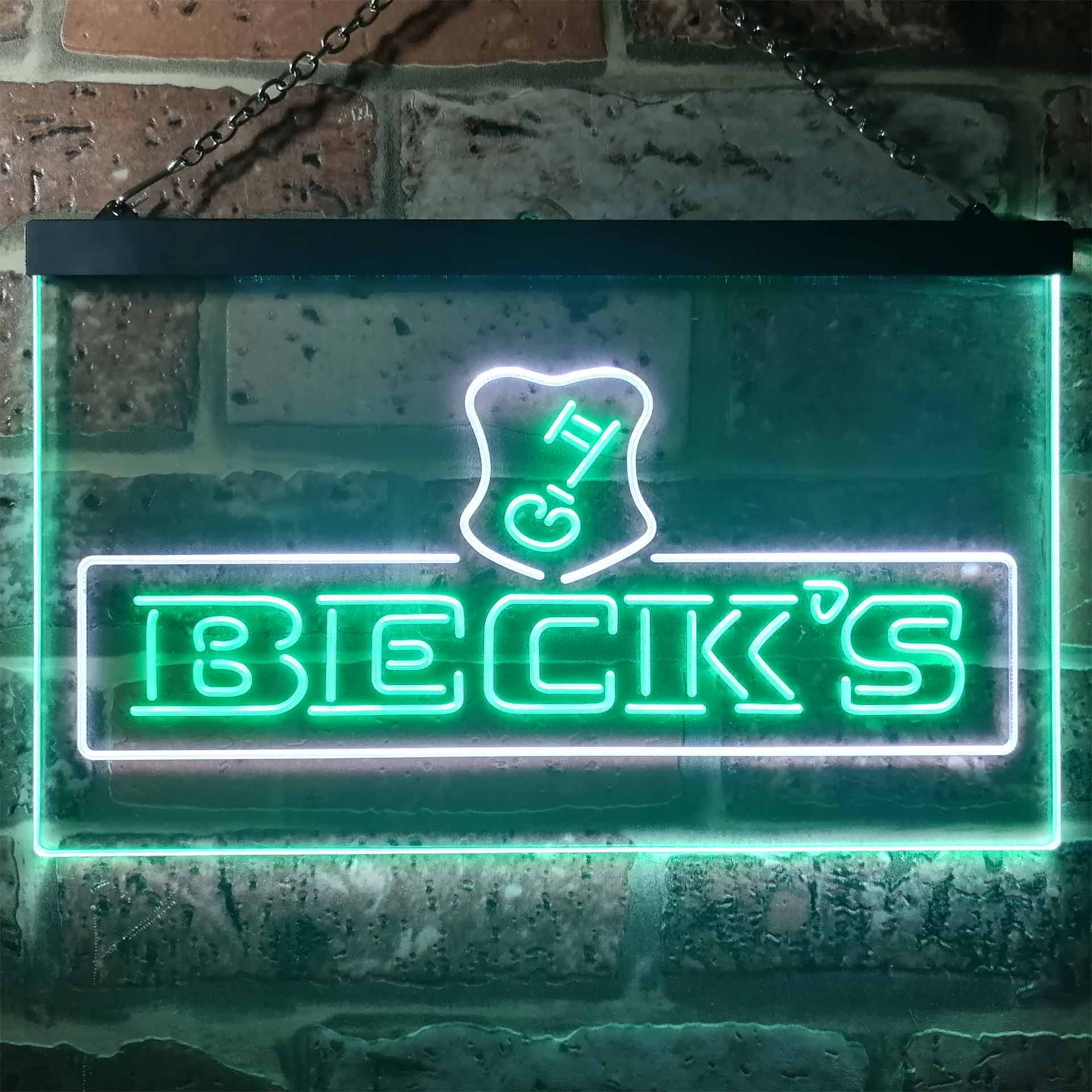 Beck's Beer Dual Color LED Neon Sign ProLedSign