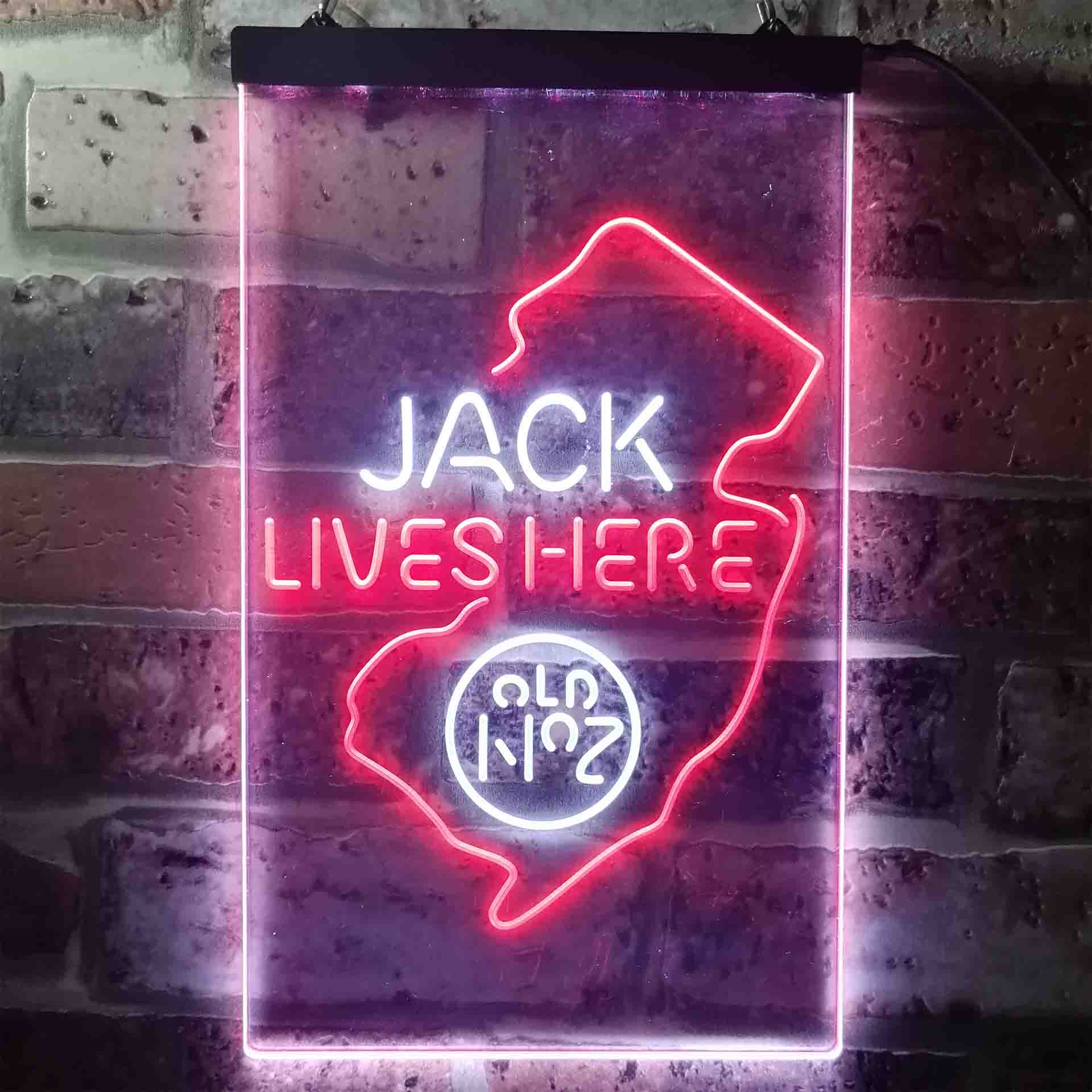 New Jersey Jack Lives Here Dual Color LED Neon Sign ProLedSign