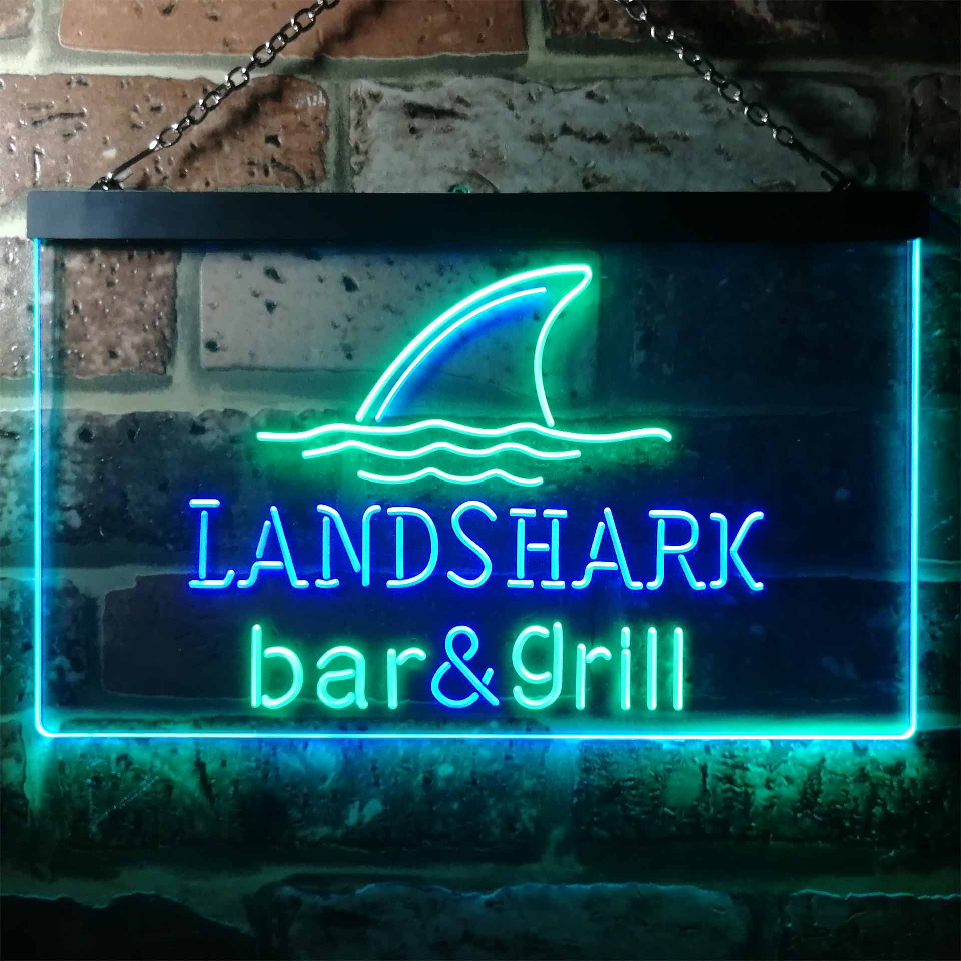 Landshark Bar and Grill Dual Color LED Neon Sign ProLedSign