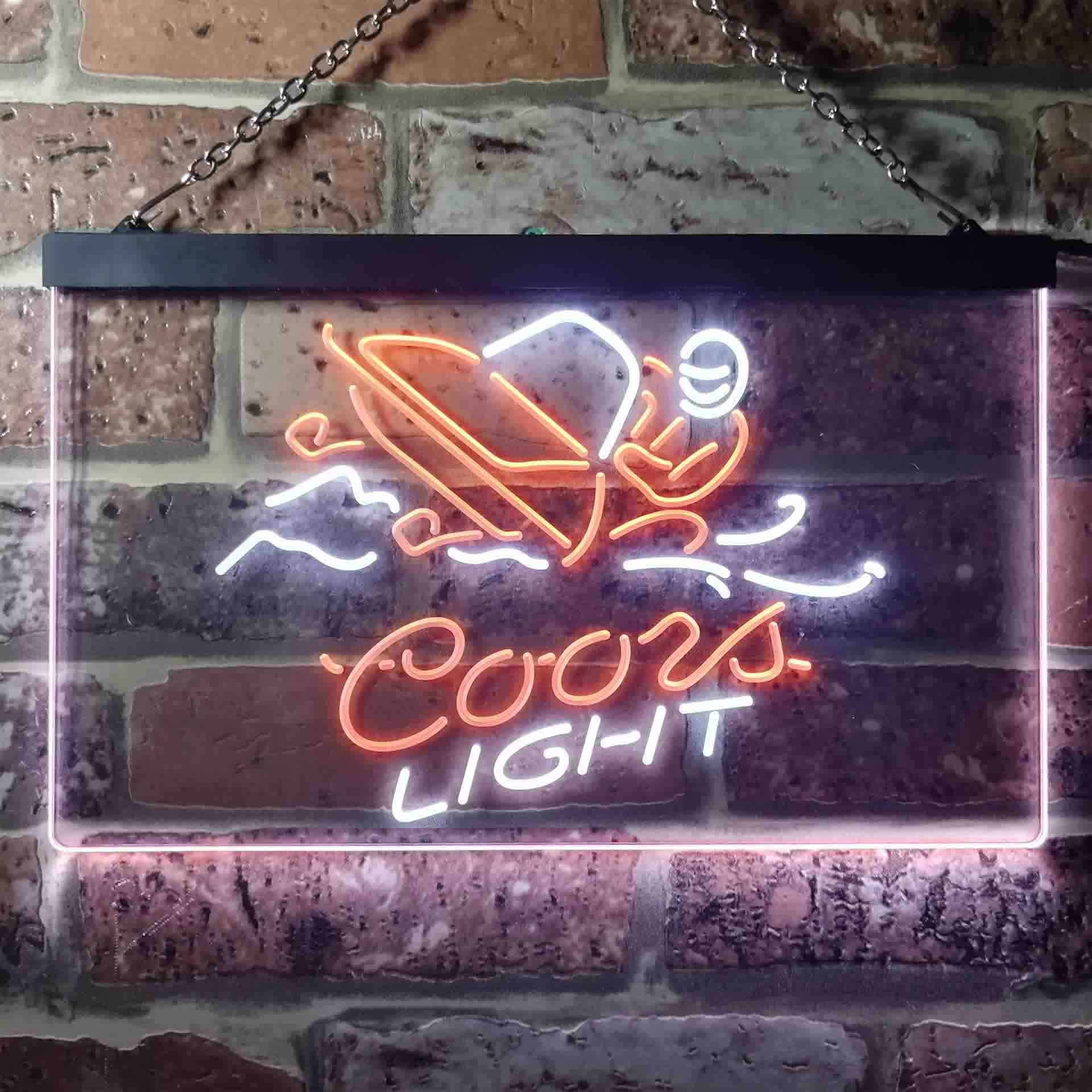 Coors Light Snowmobile Dual Color LED Neon Sign ProLedSign