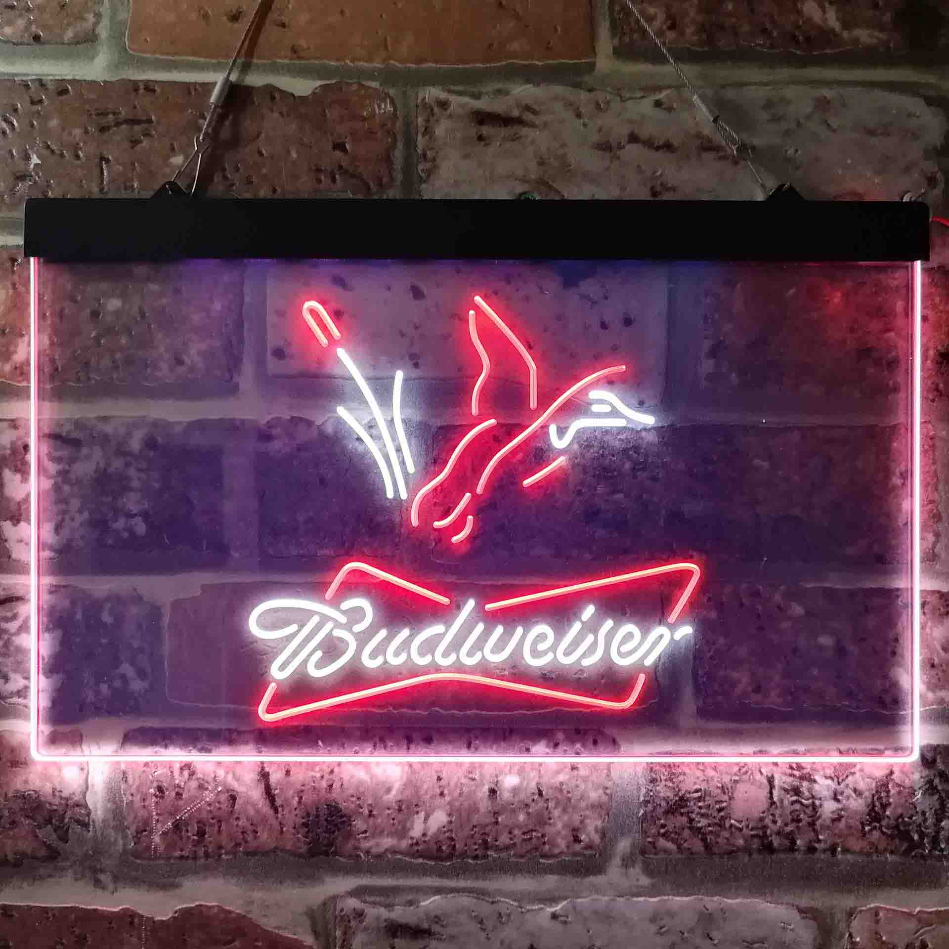 Budweiser Duck Hunting Dual Color LED Neon Sign ProLedSign
