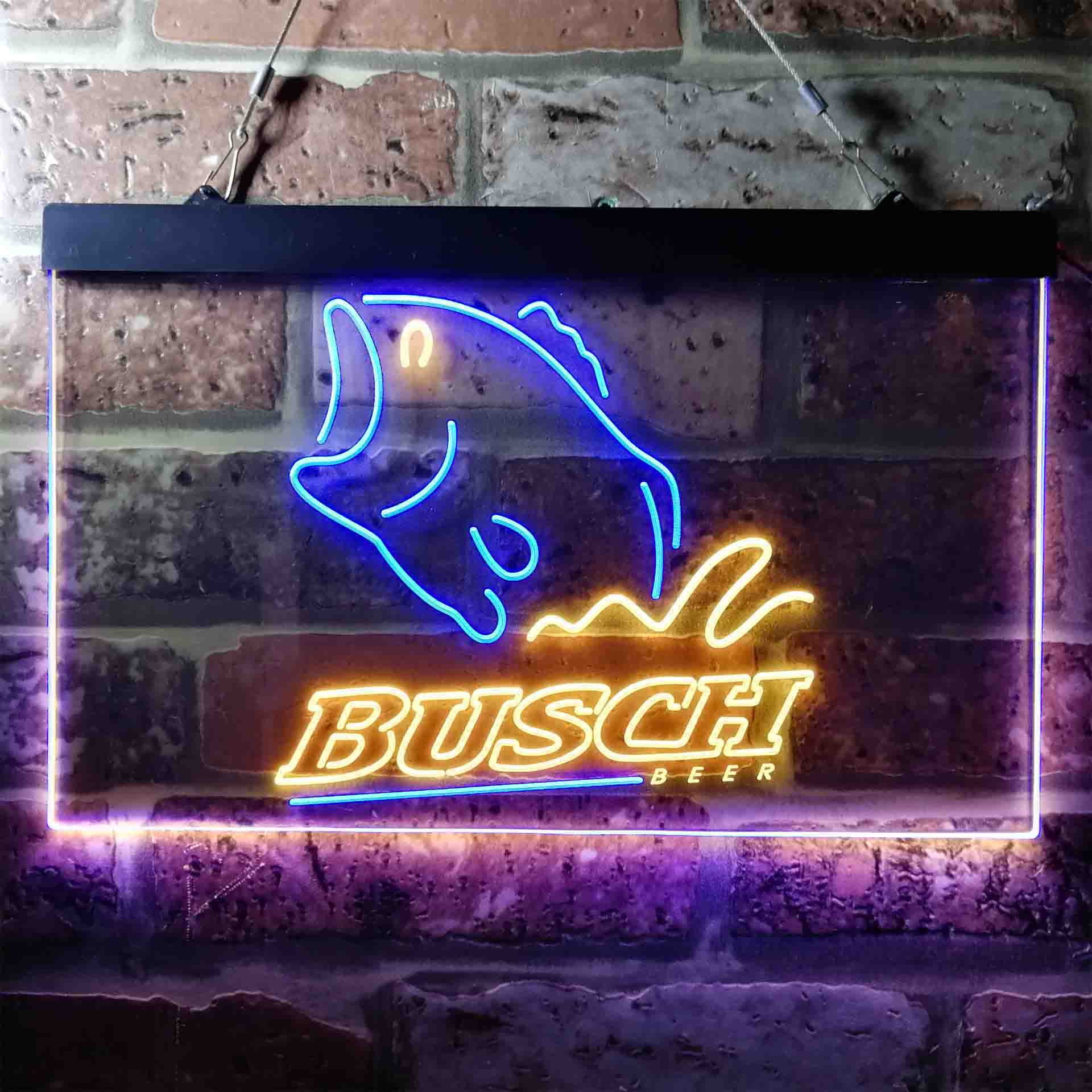 Busch Beer Fishing Camp Neon-Like LED Sign
