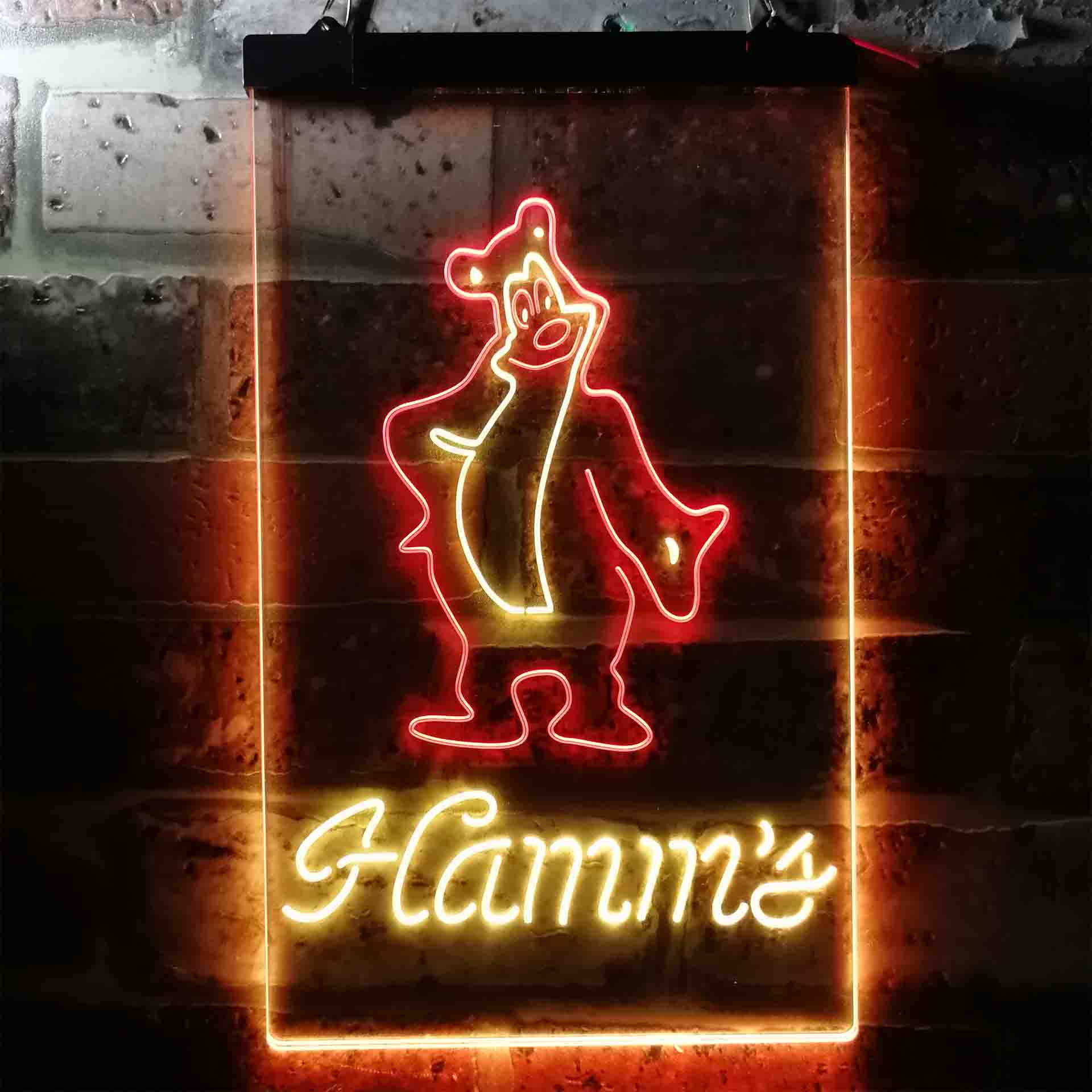 Hamm's Beer Bear Bar Dual Color LED Neon Sign ProLedSign