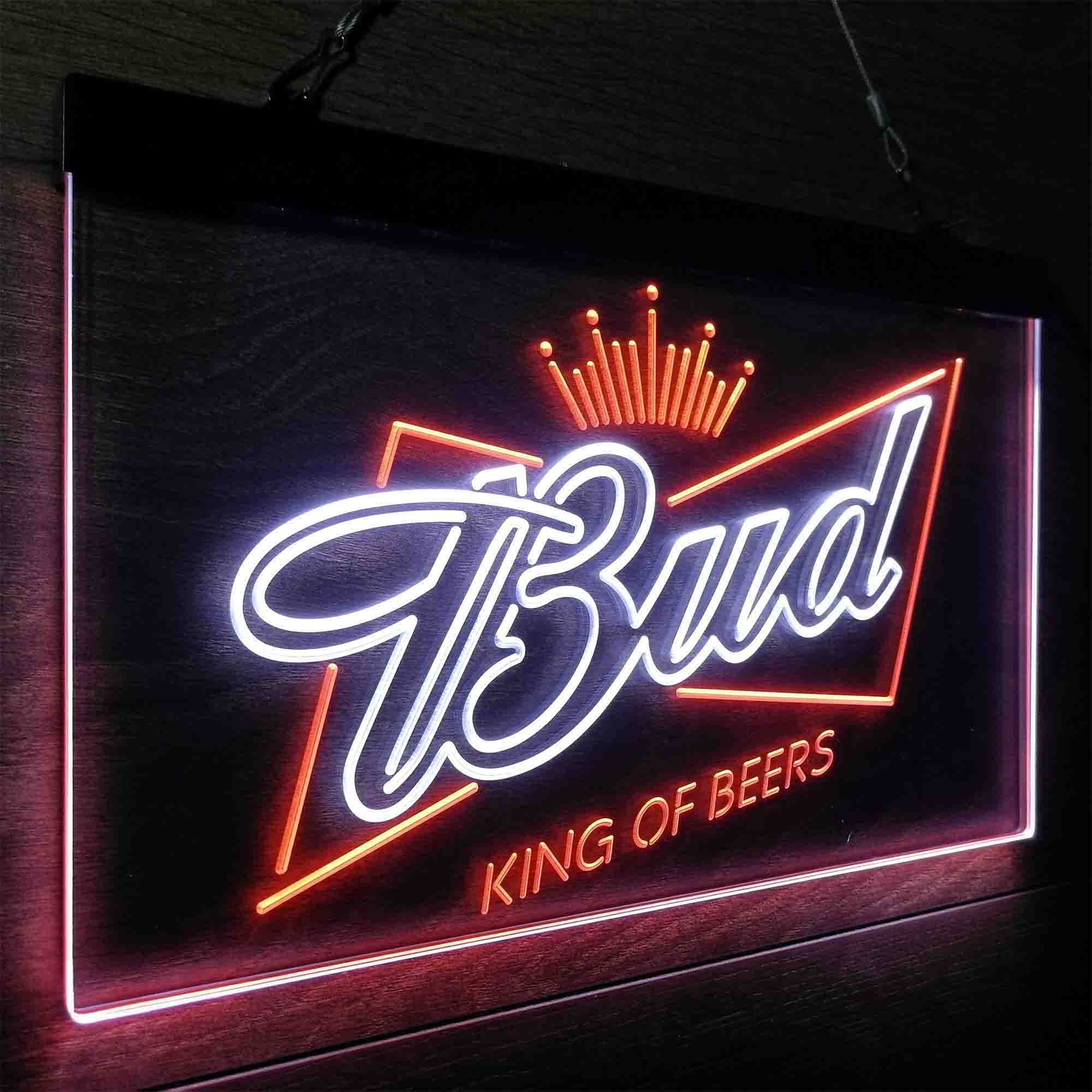 Bud King of Beer Crown Neon-Like LED Sign