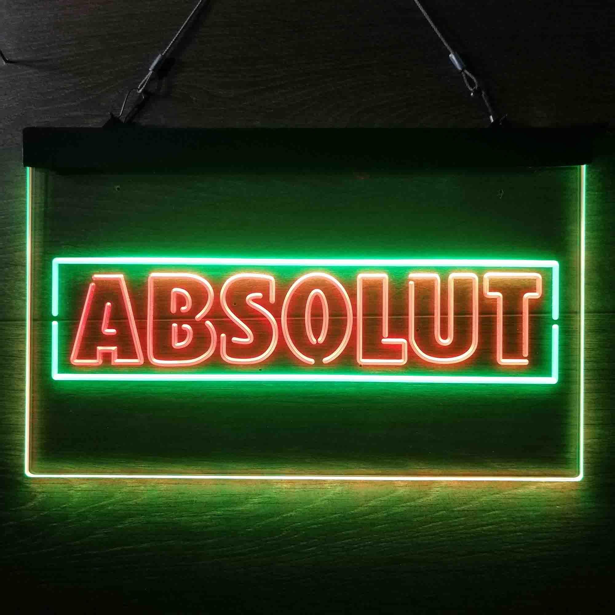 Absolut Vodka Flavors Neon-Like LED Sign