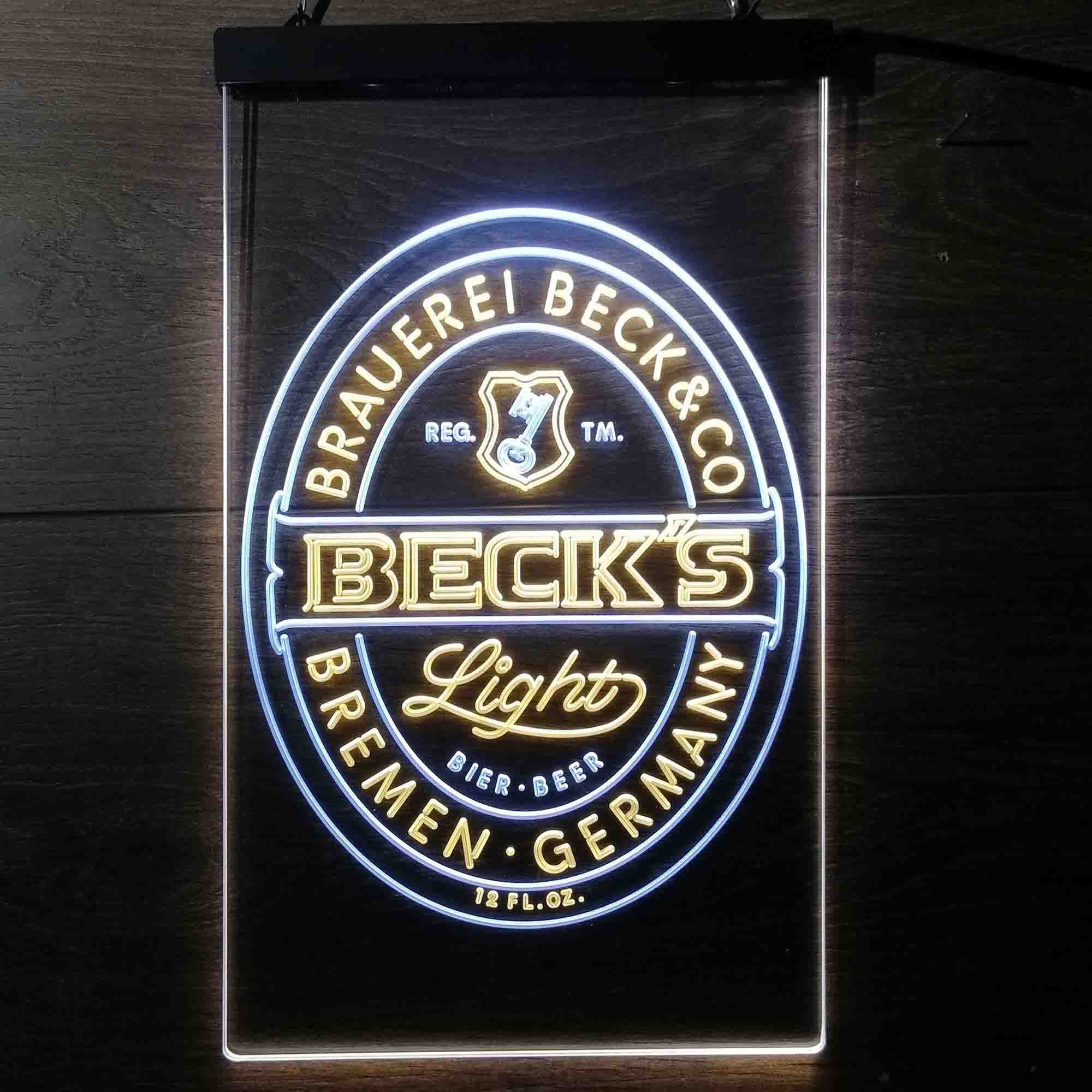 Beck's Light Beer Germany Neon-Like LED Sign