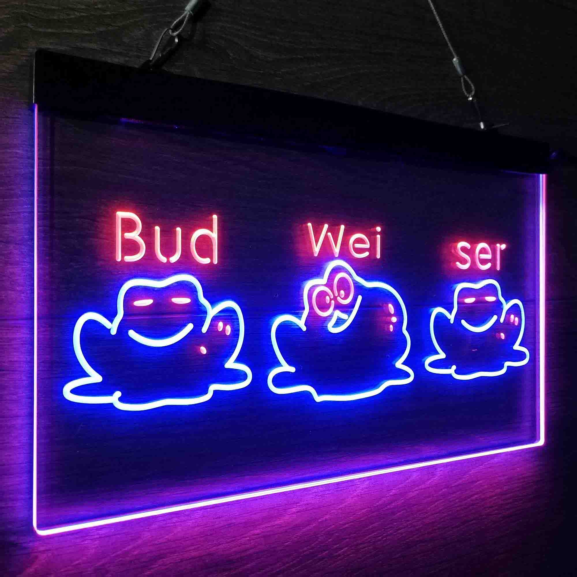 Budweiser Frogs Singing Neon-Like LED Sign