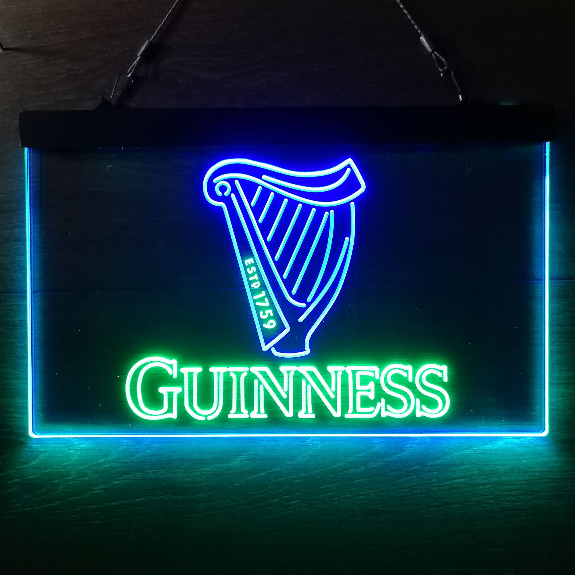 Guinness Beer Logo Dual Color LED Neon Sign ProLedSign