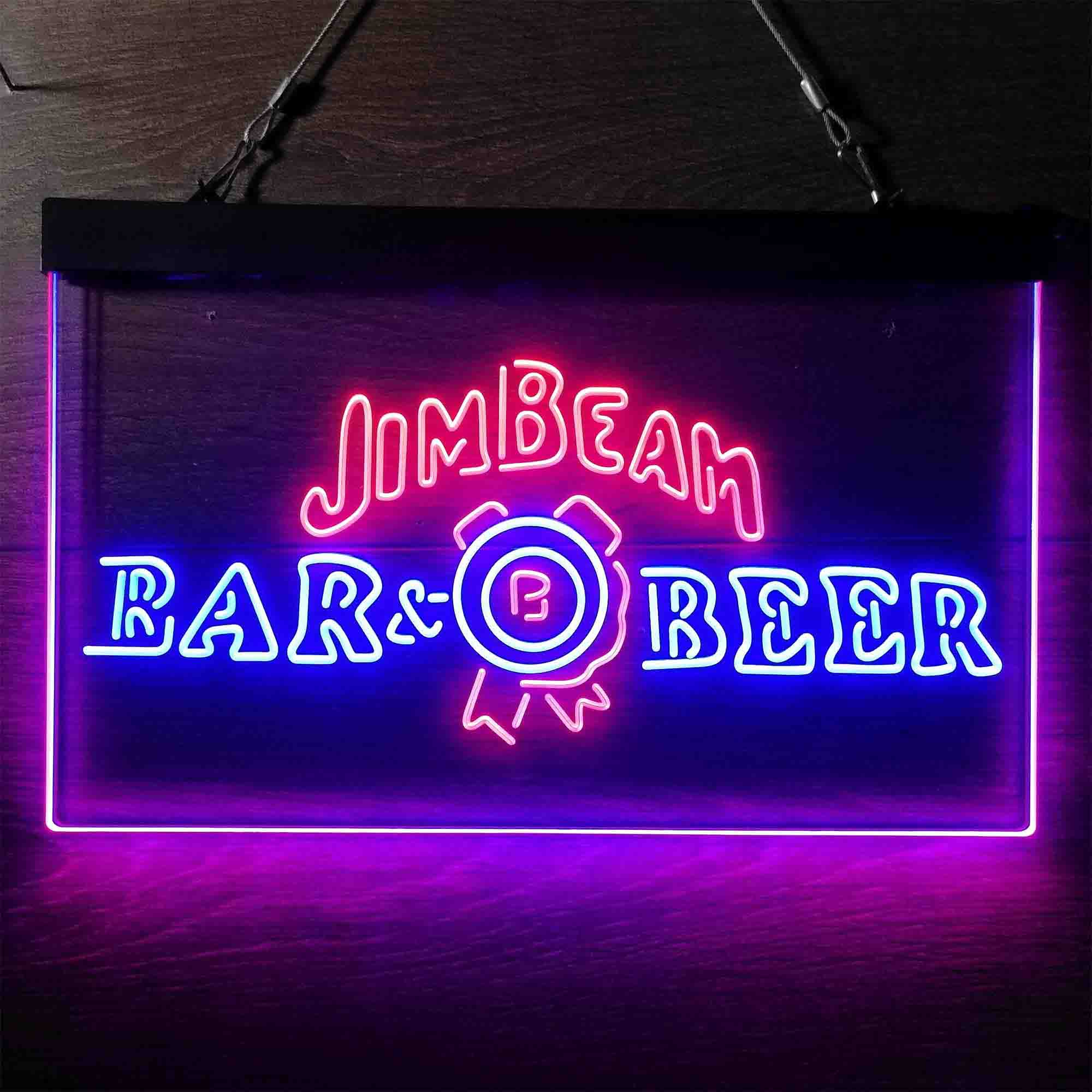 Jim Beam Bar Beer Neon-Like LED Sign