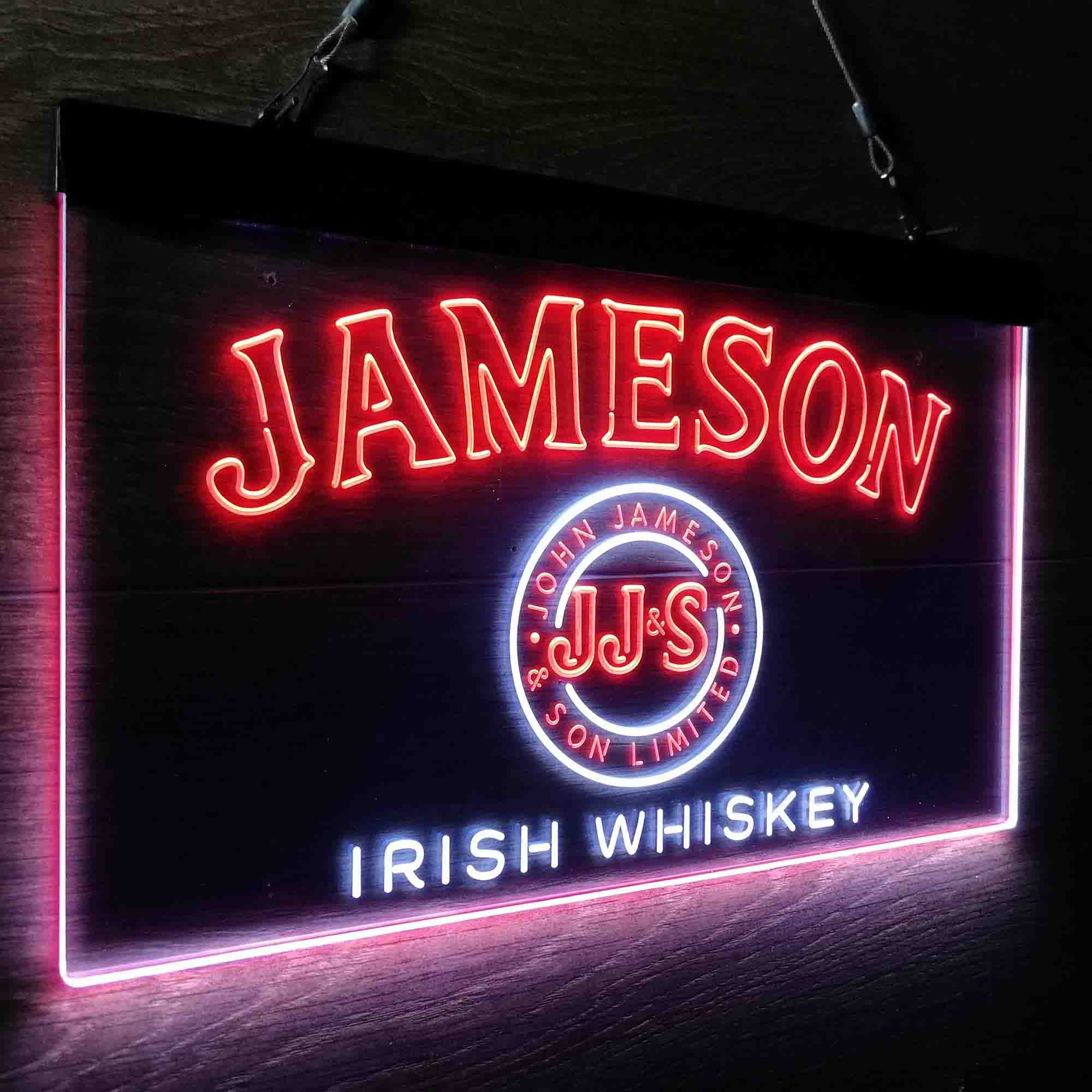 Jameson JJ&S Irish Whiskey Neon-Like LED Sign