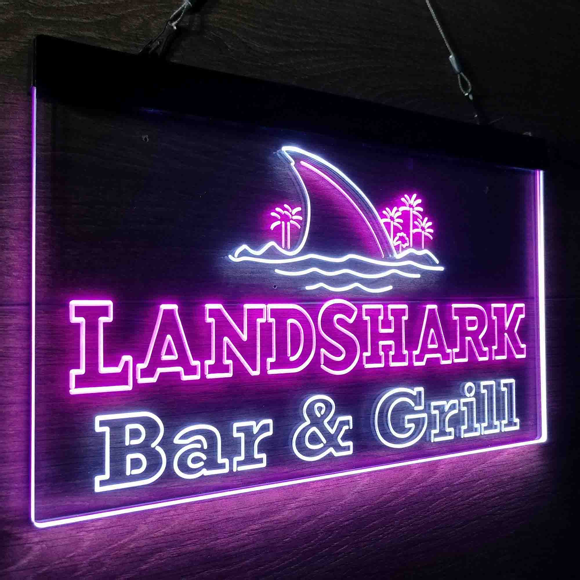 Landshark Bar & Grill Beer Neon-Like LED Sign