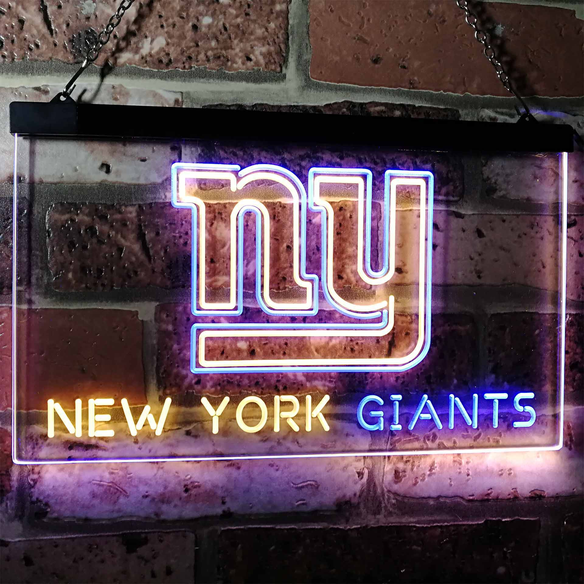 New York Giantsation Football Bar Dual Color LED Neon Sign ProLedSign