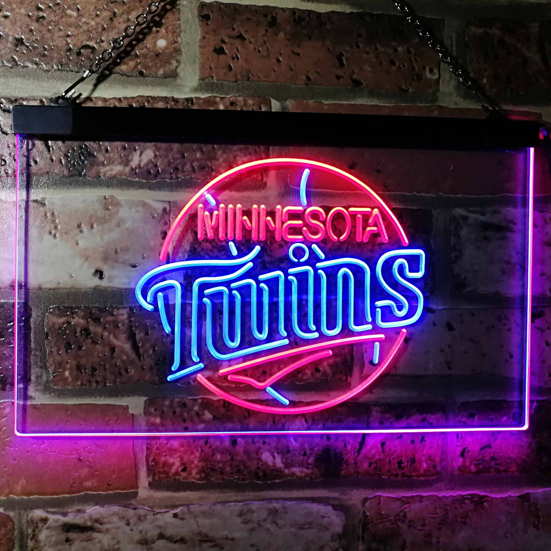 Minnesota Twins Dual Color LED Neon Sign ProLedSign