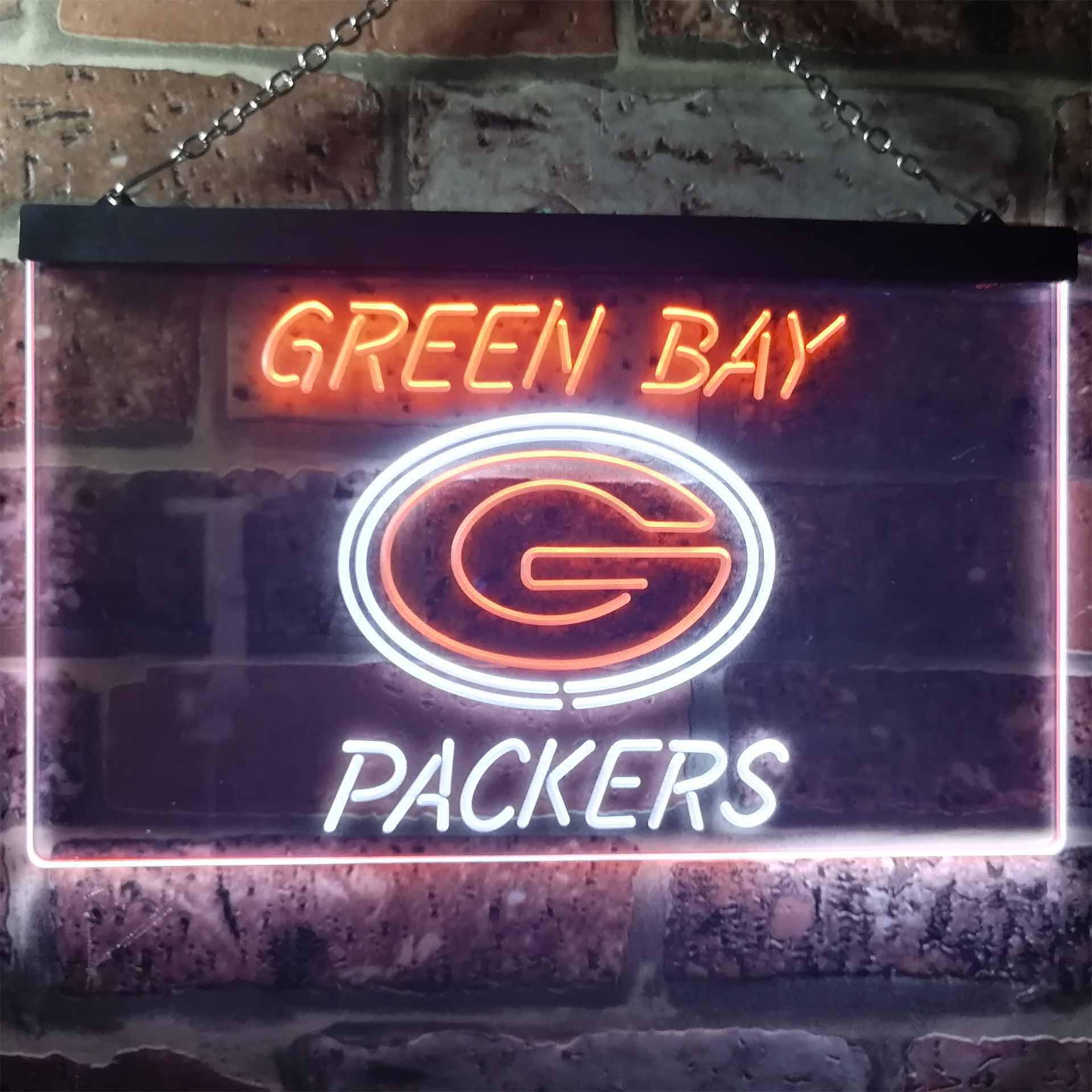 Green Bay Packers Club Dual Color LED Neon Sign ProLedSign