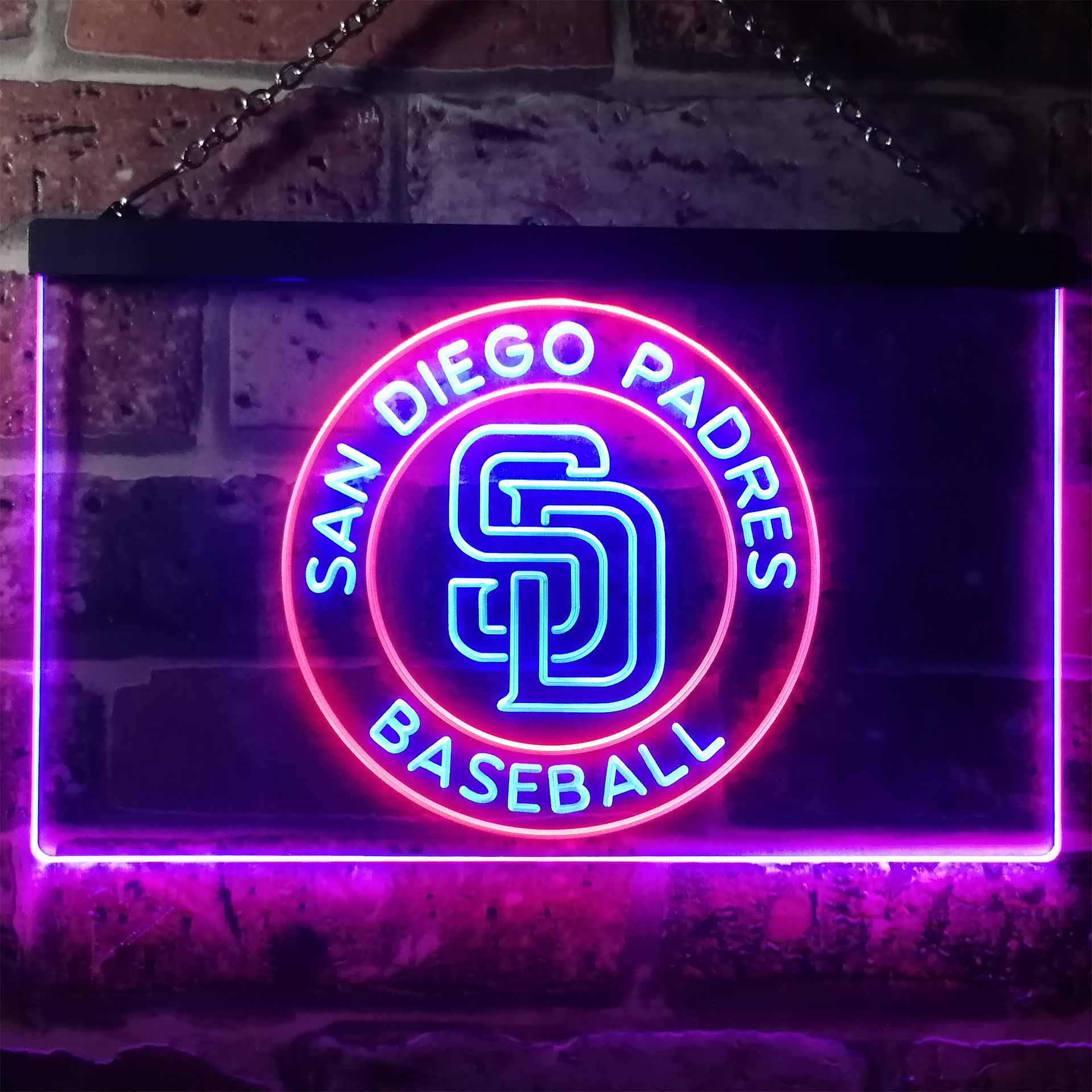 San Diego Padres Baseball Dual Color LED Neon Sign ProLedSign