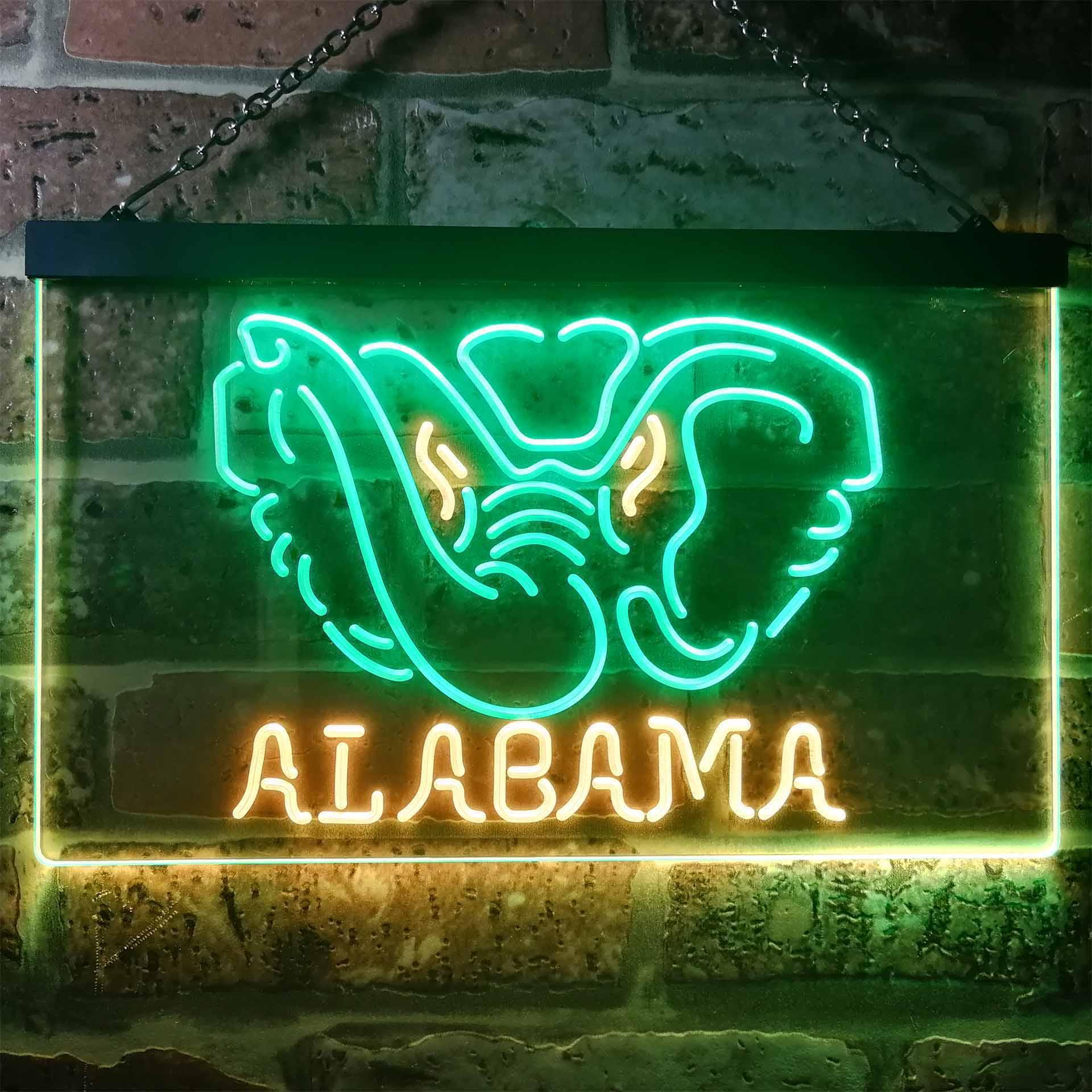 Alabama Crimson Tide Dual Color LED Neon Sign ProLedSign