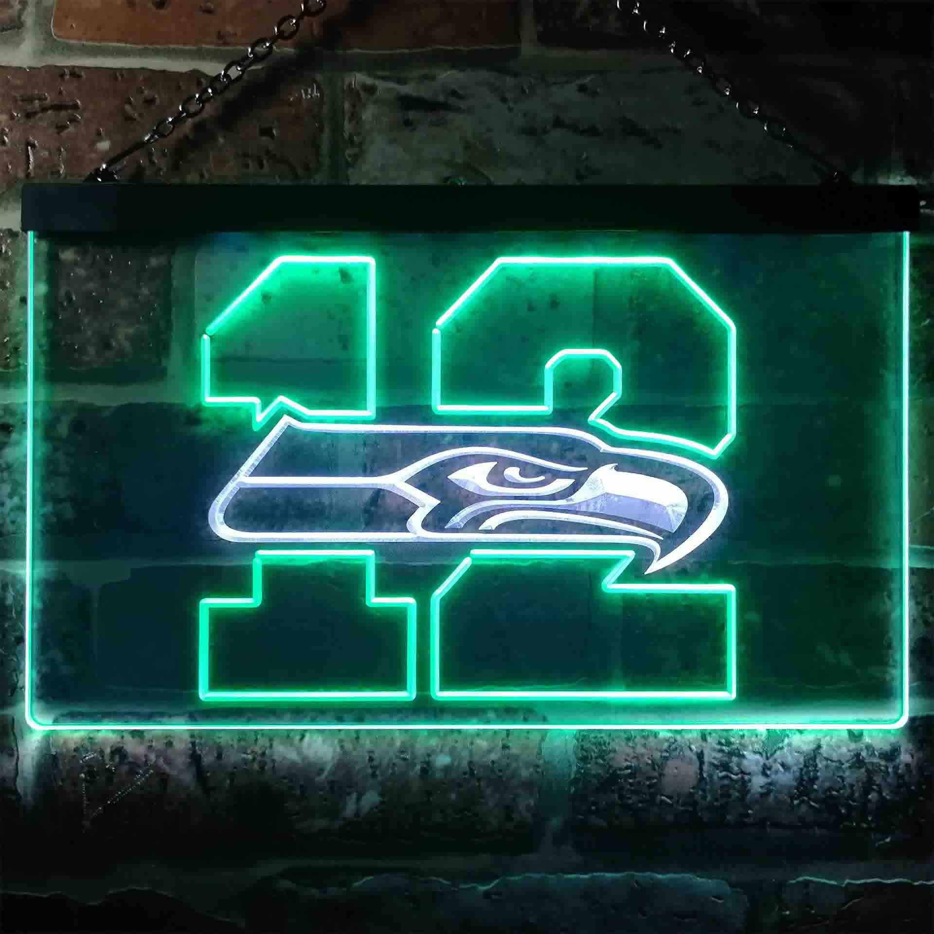 12th Man Seattle Seahawks Dual Color LED Neon Sign ProLedSign