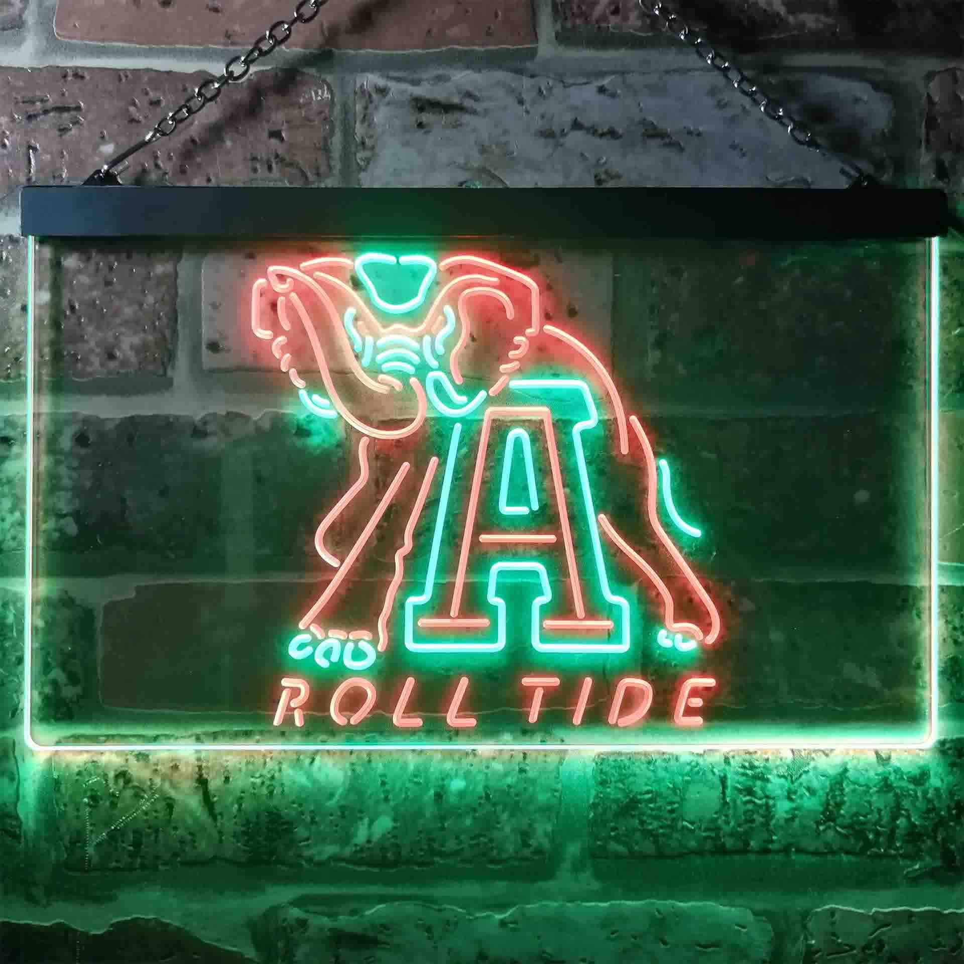 University of Alabama Roll Tide Dual Color LED Neon Sign ProLedSign