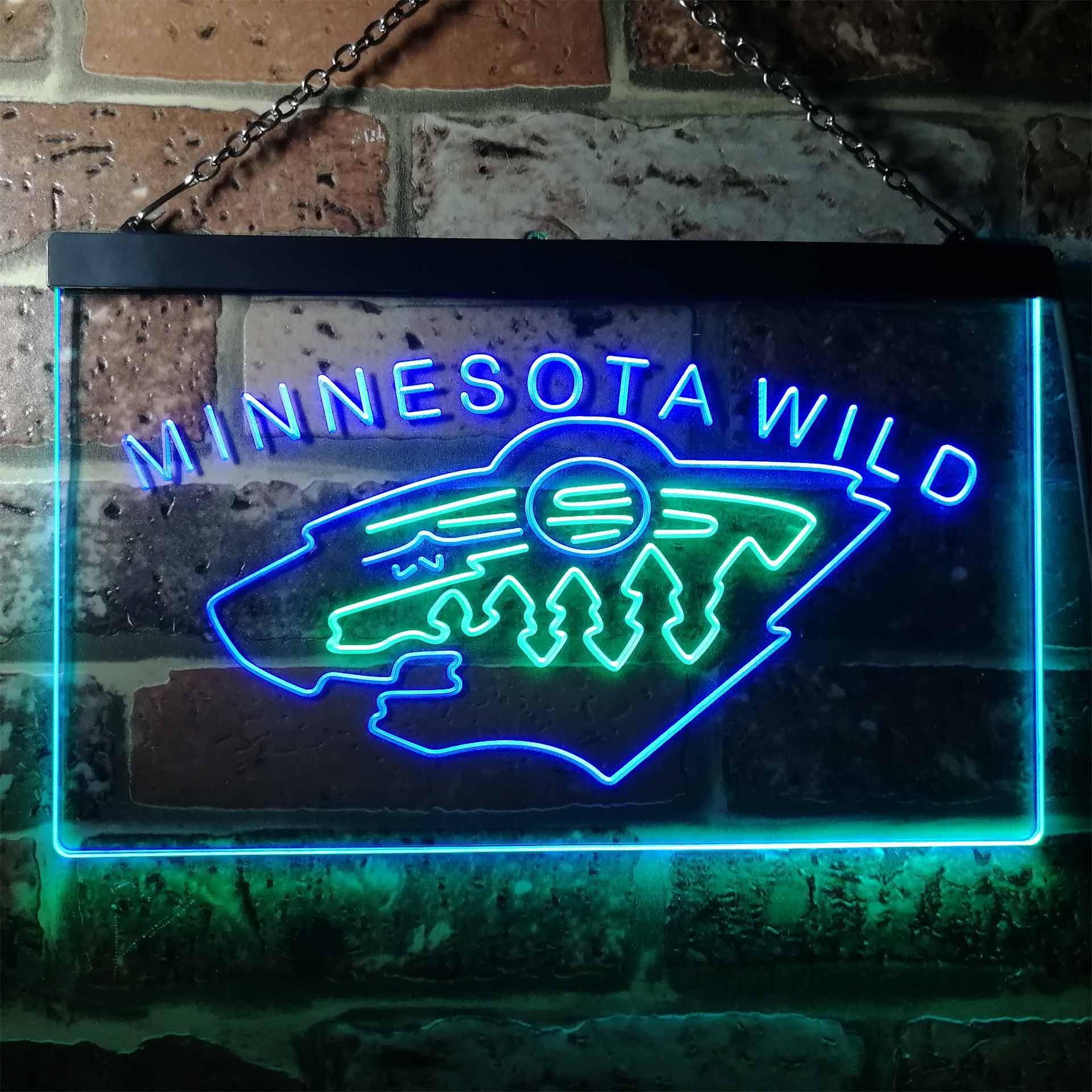 Minnesota Sport Team Wild Dual Color LED Neon Sign ProLedSign