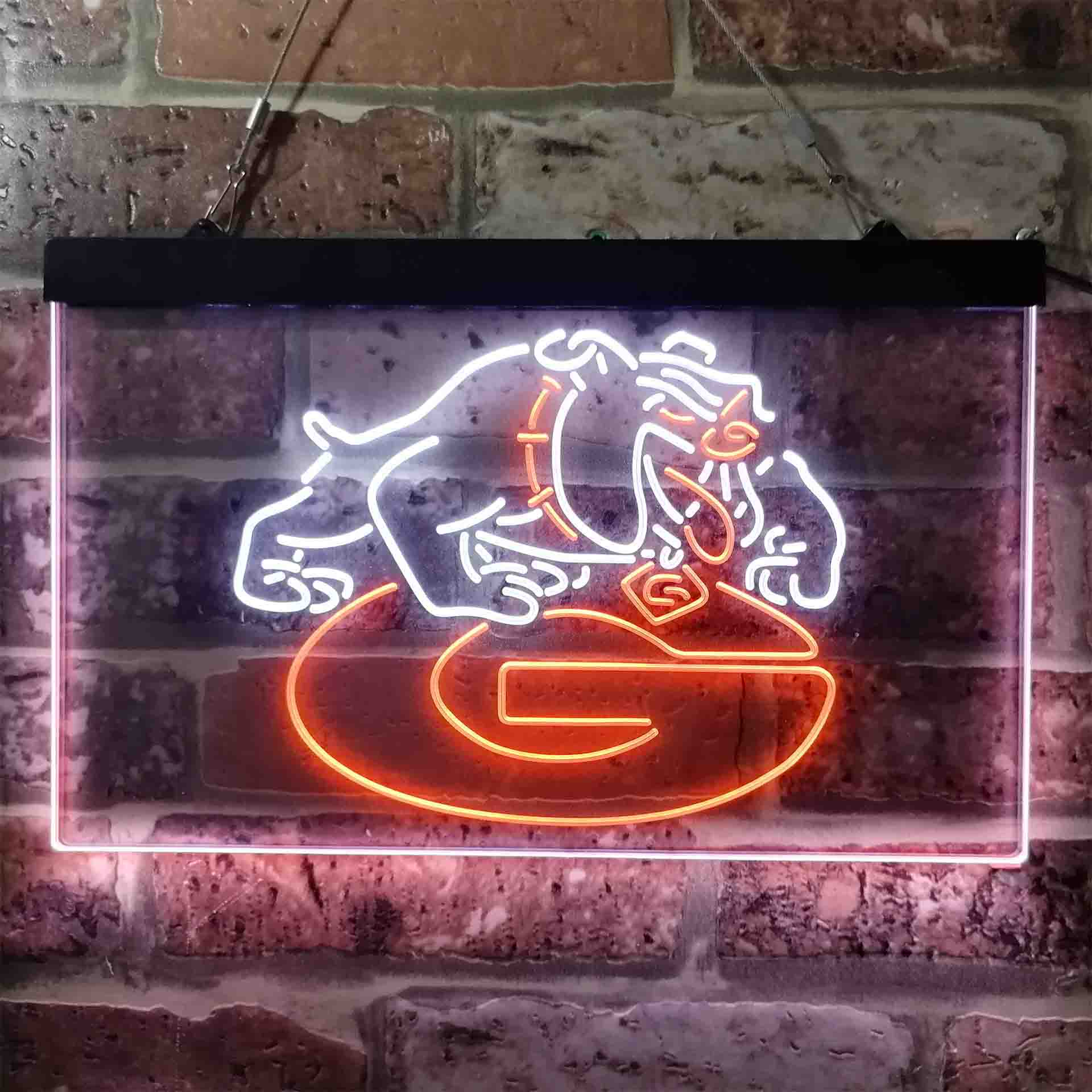 Football Georgia Bulldogs Sport Dual Color LED Neon Sign ProLedSign