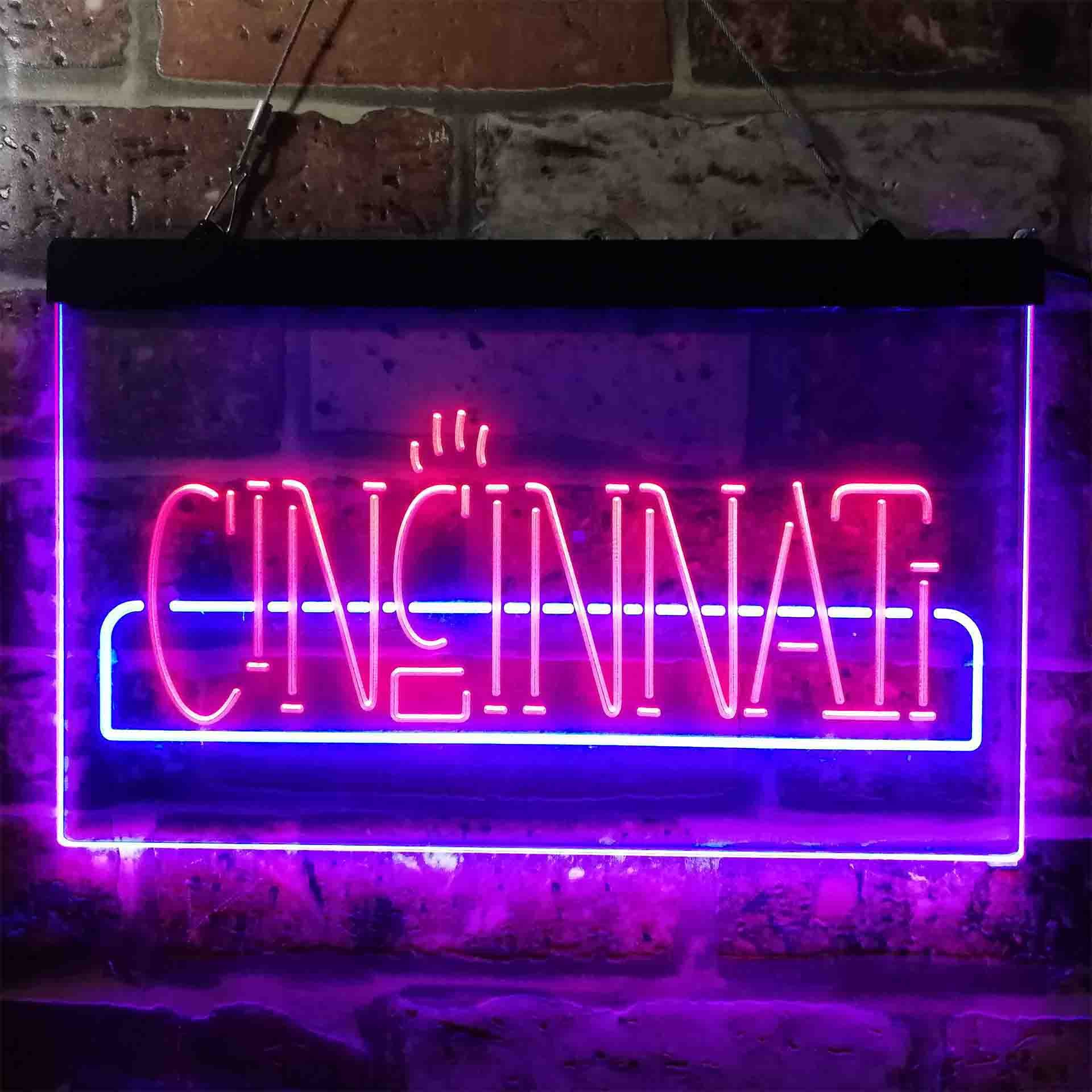 University Sport Team Cincinnati Bearcats Dual Color LED Neon Sign ProLedSign