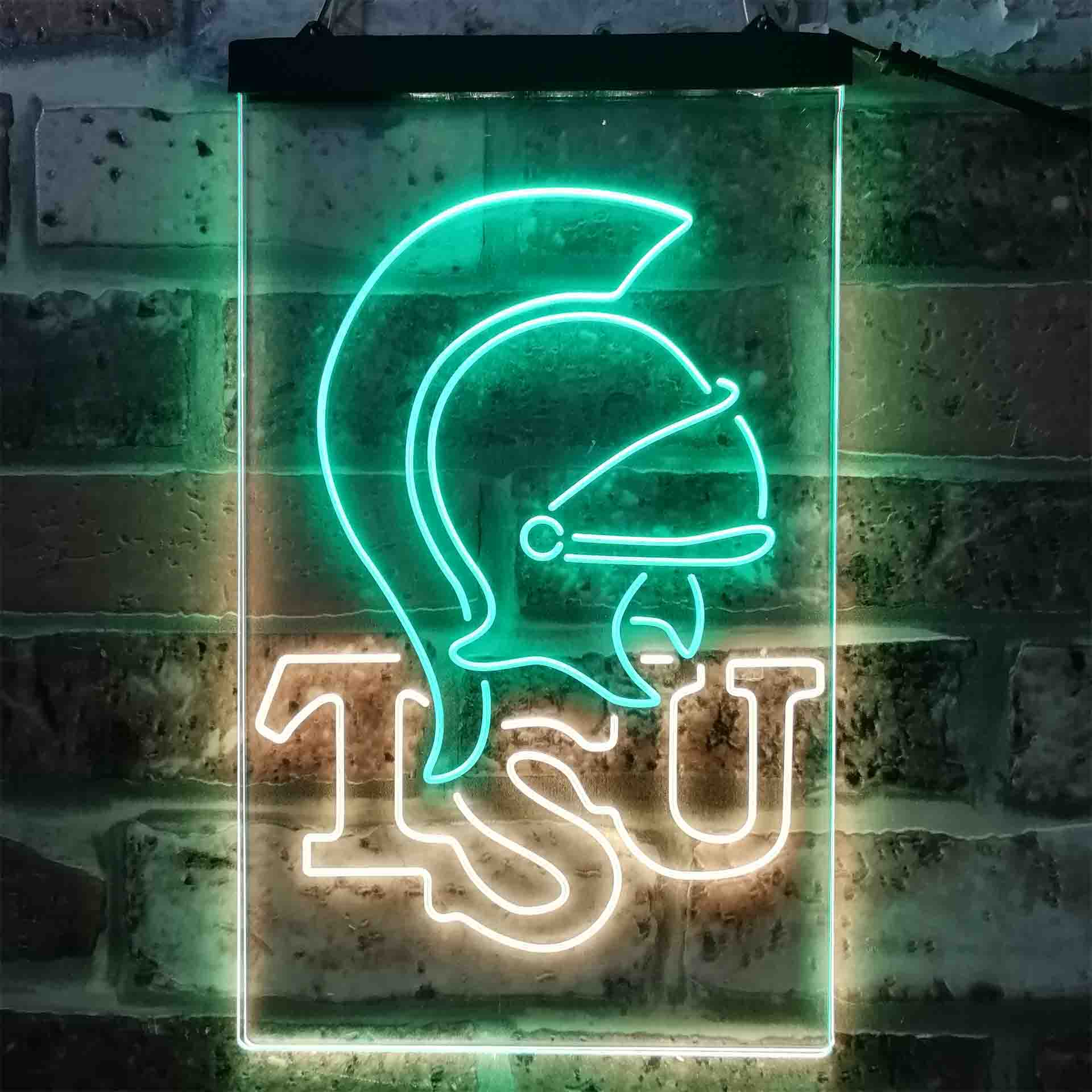 University Football Sport Team Troy Trojans Dual Color LED Neon Sign ProLedSign
