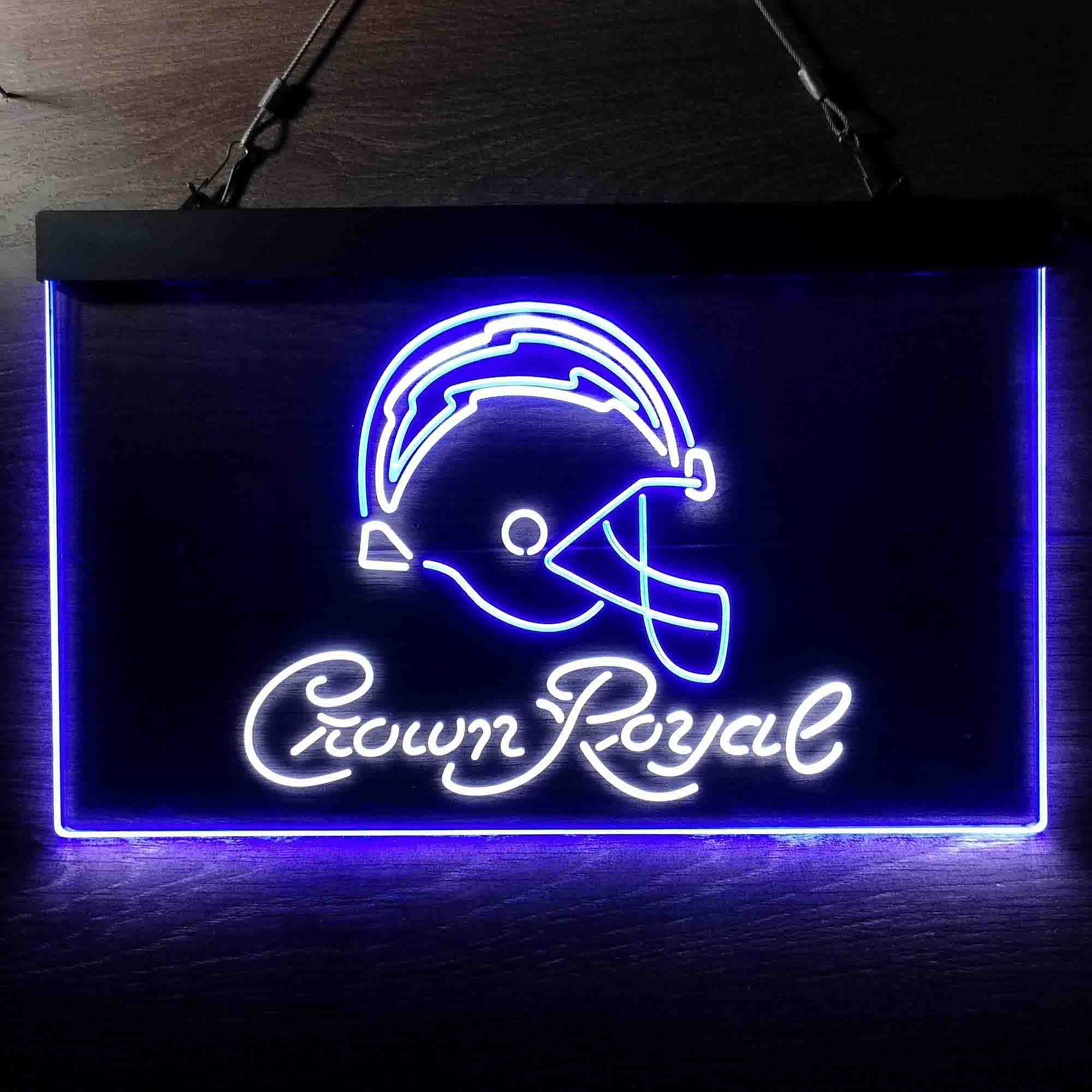 Crown Royal Bar Los Angeles Chargers Est. 1960 Neon-Like LED Sign