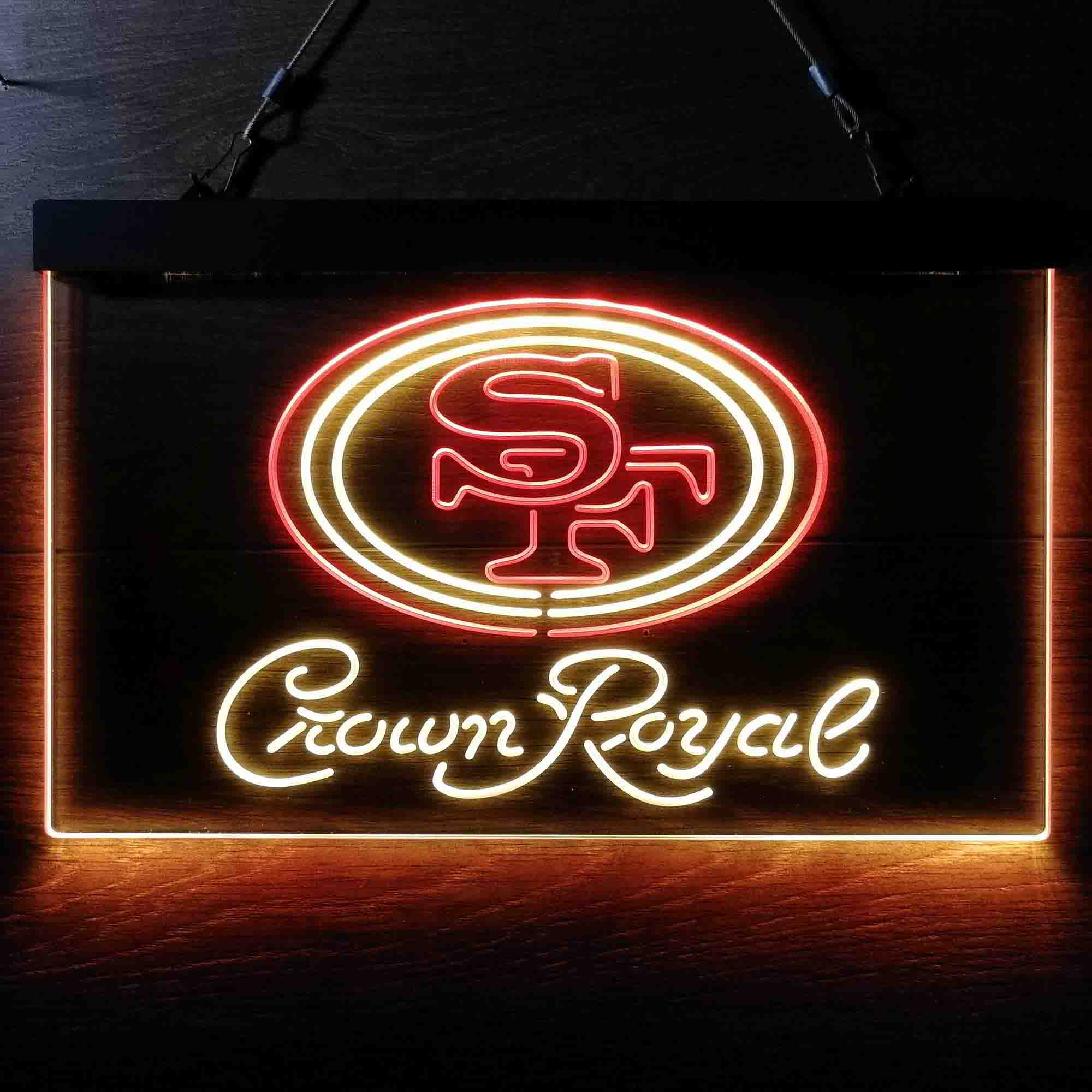 Crown Royal Bar San Francisco 49ers Est. 1946 Neon-Like LED Sign