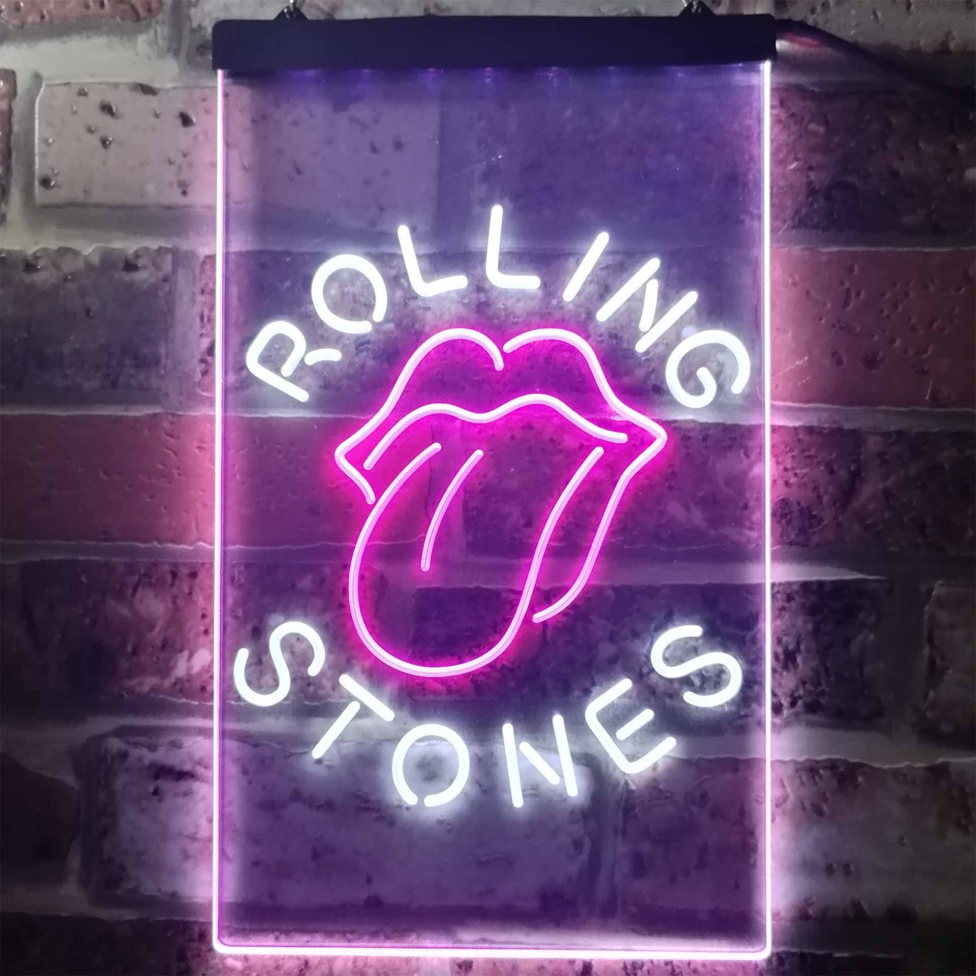 rolling Stones Tongue Dual Color LED Neon Sign ProLedSign