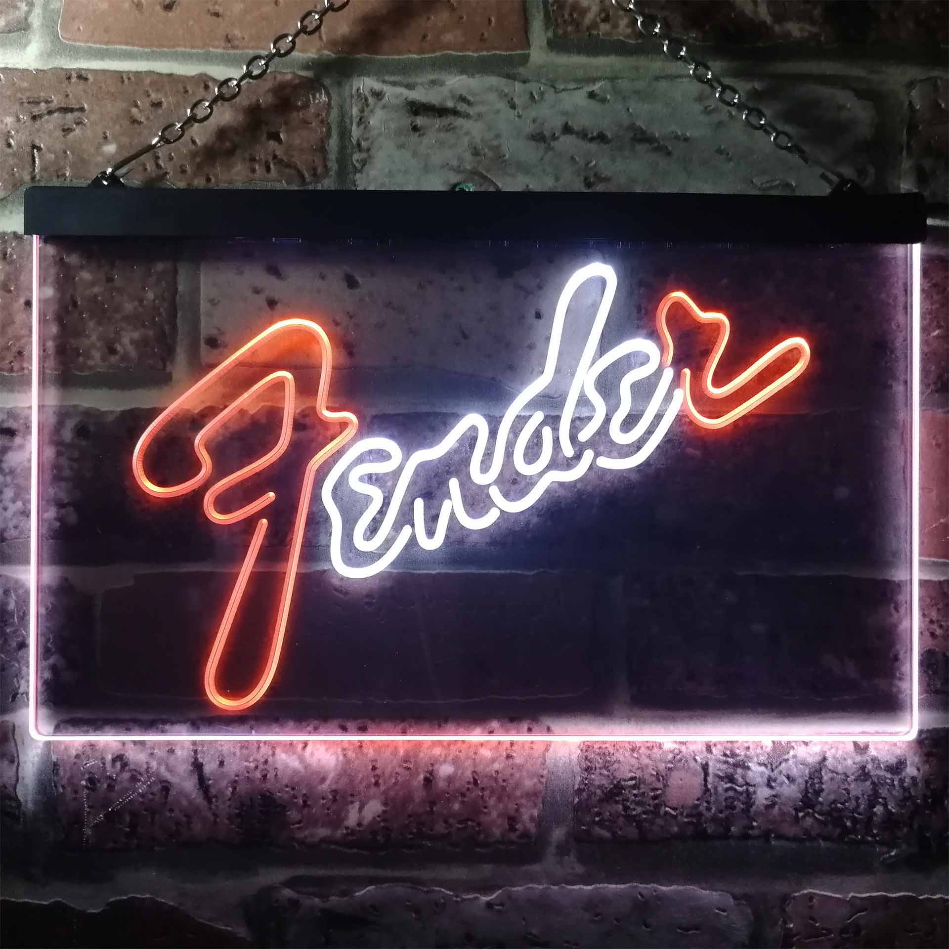 Fender Guitar Dual Color LED Neon Sign ProLedSign