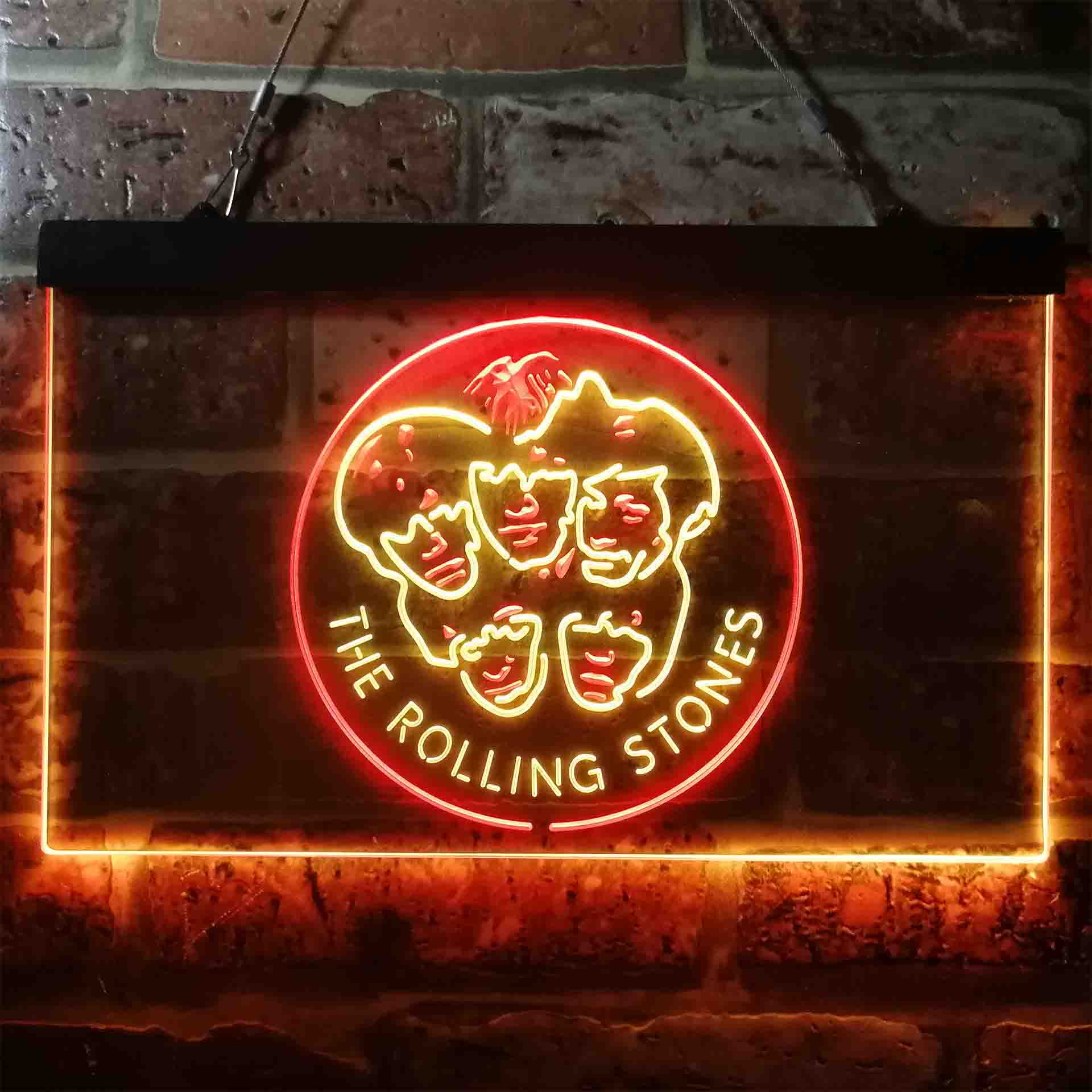 The Rolling Stones Heads Neon-Like LED Sign