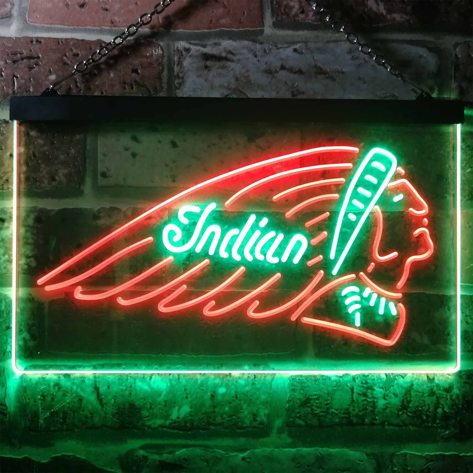 Indian Motorcycle Club Dual Color LED Neon Sign ProLedSign