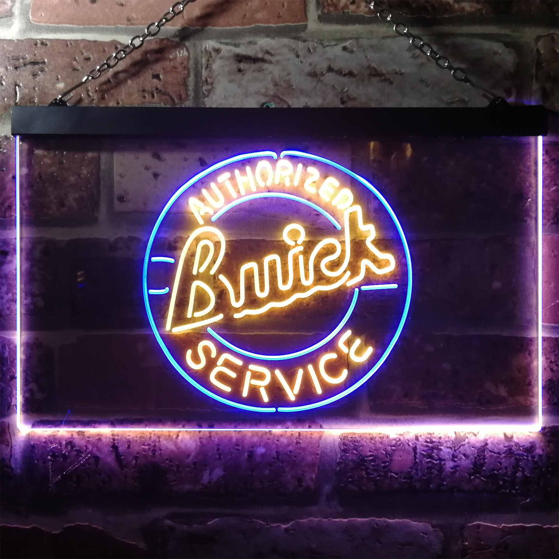 Buick Car Service Dual Color LED Neon Sign ProLedSign