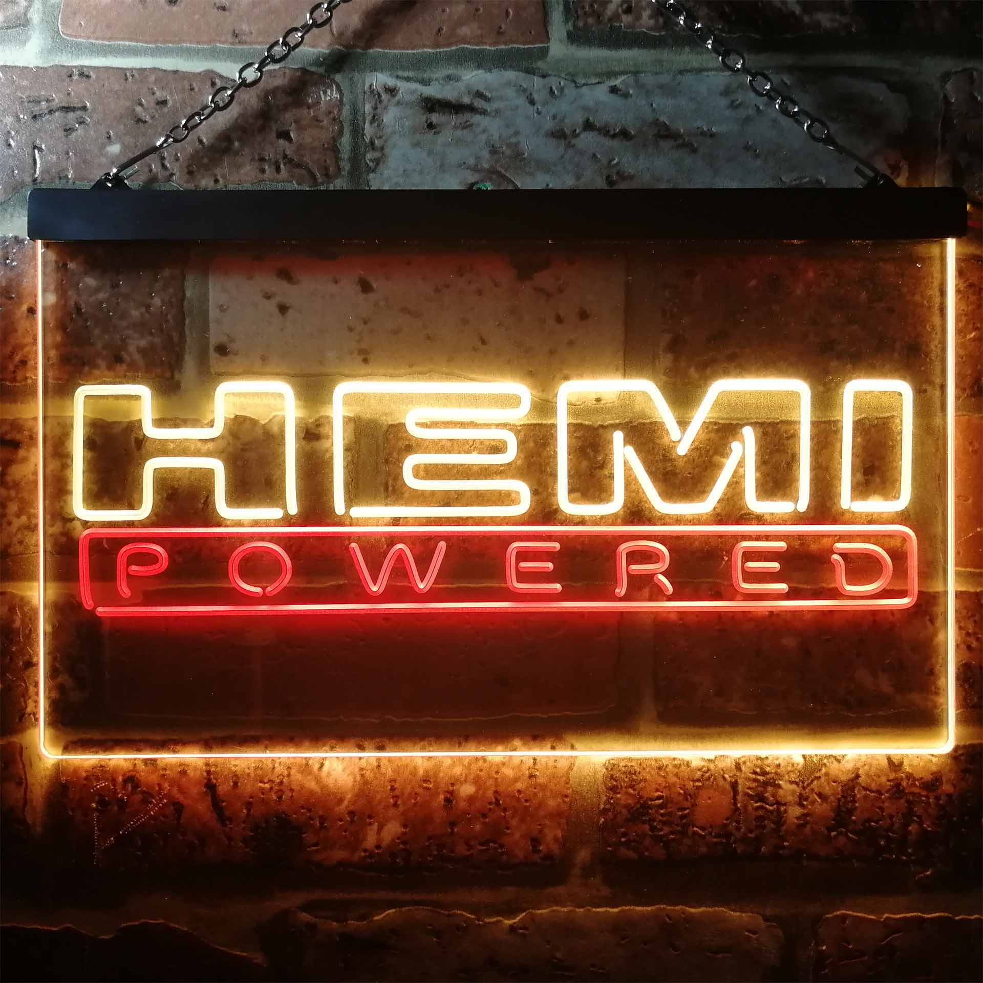 Hemi Powered Car Dual Color LED Neon Sign ProLedSign