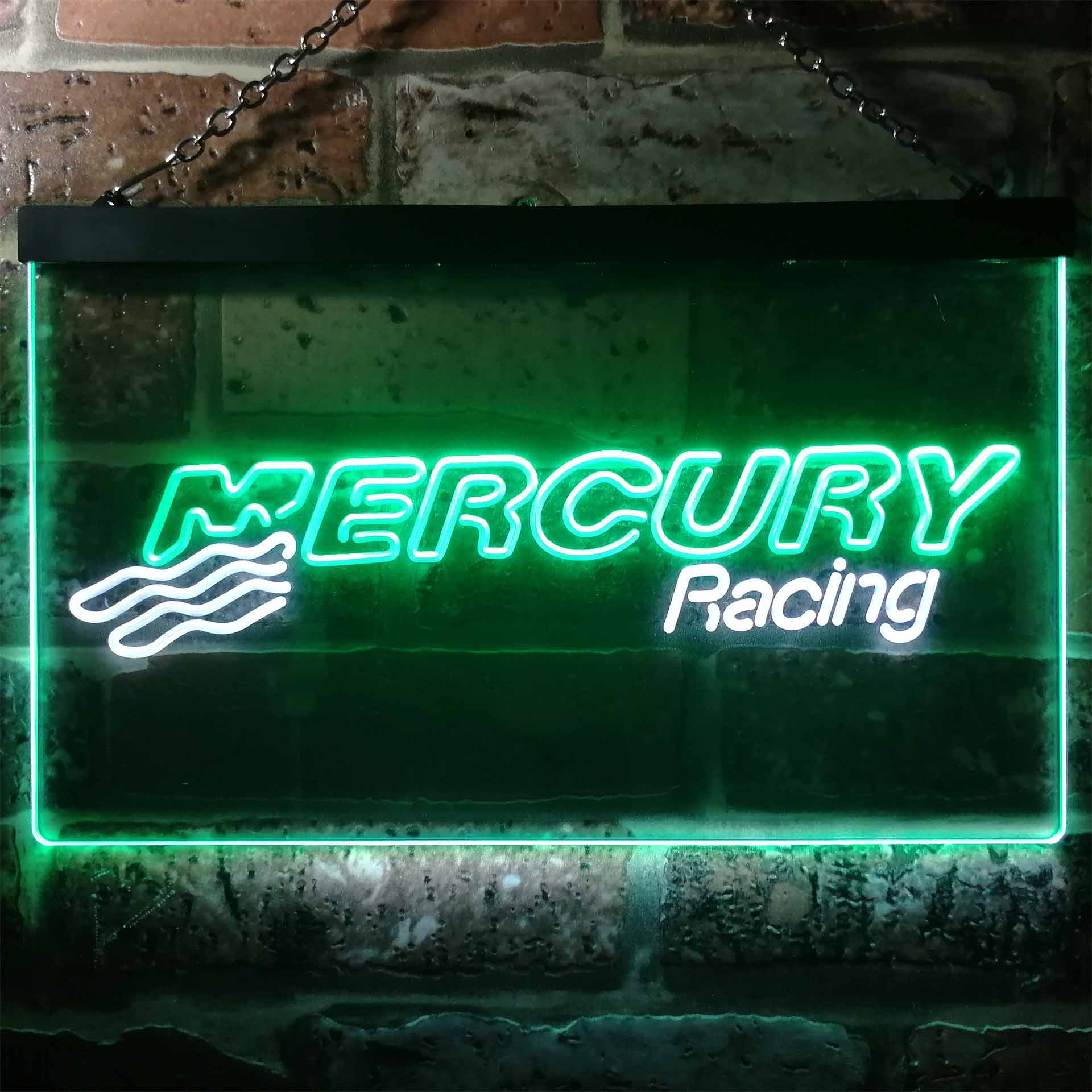 Mercury Racing Dual Color LED Neon Sign ProLedSign