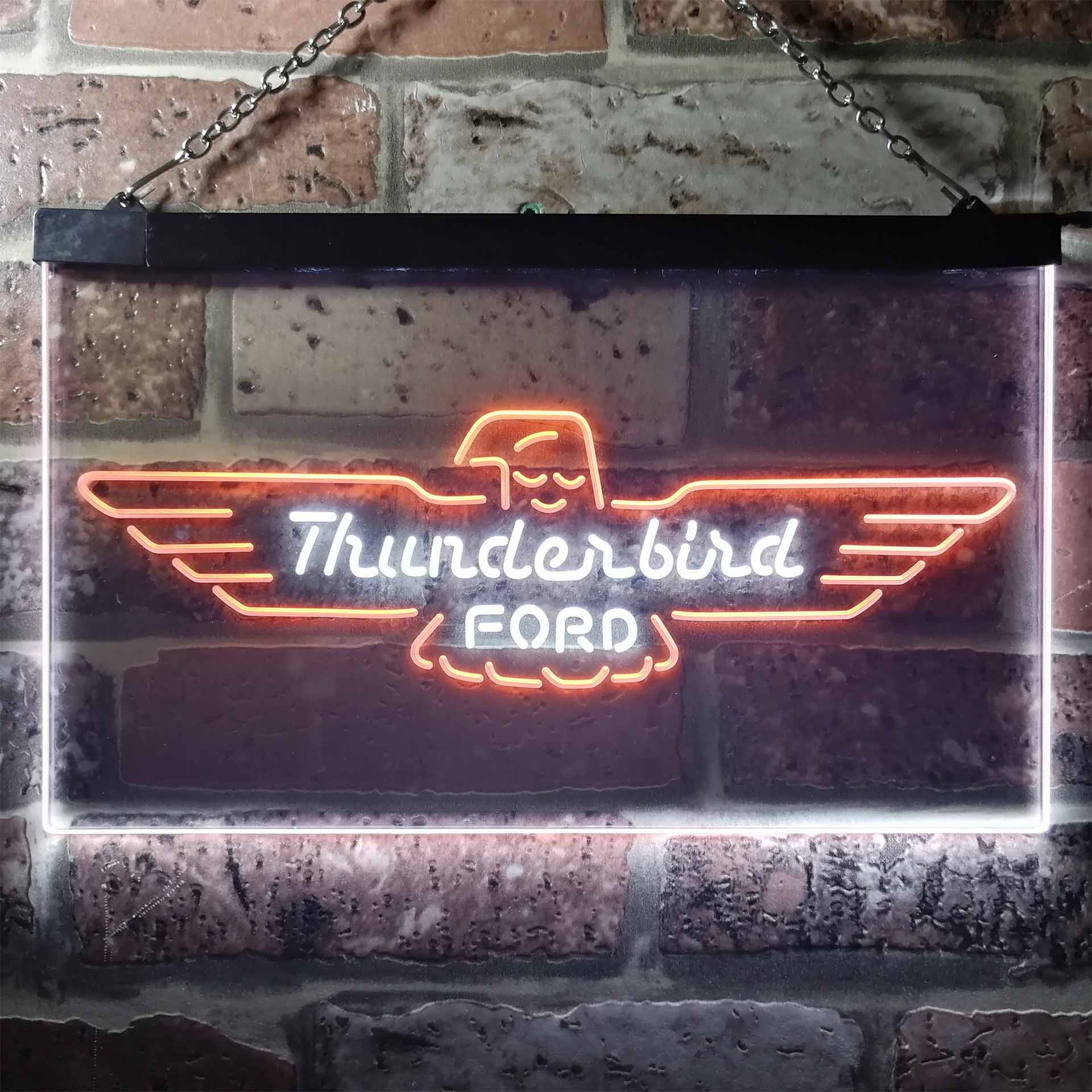 Ford Thunderbird Dual Color LED Neon Sign ProLedSign