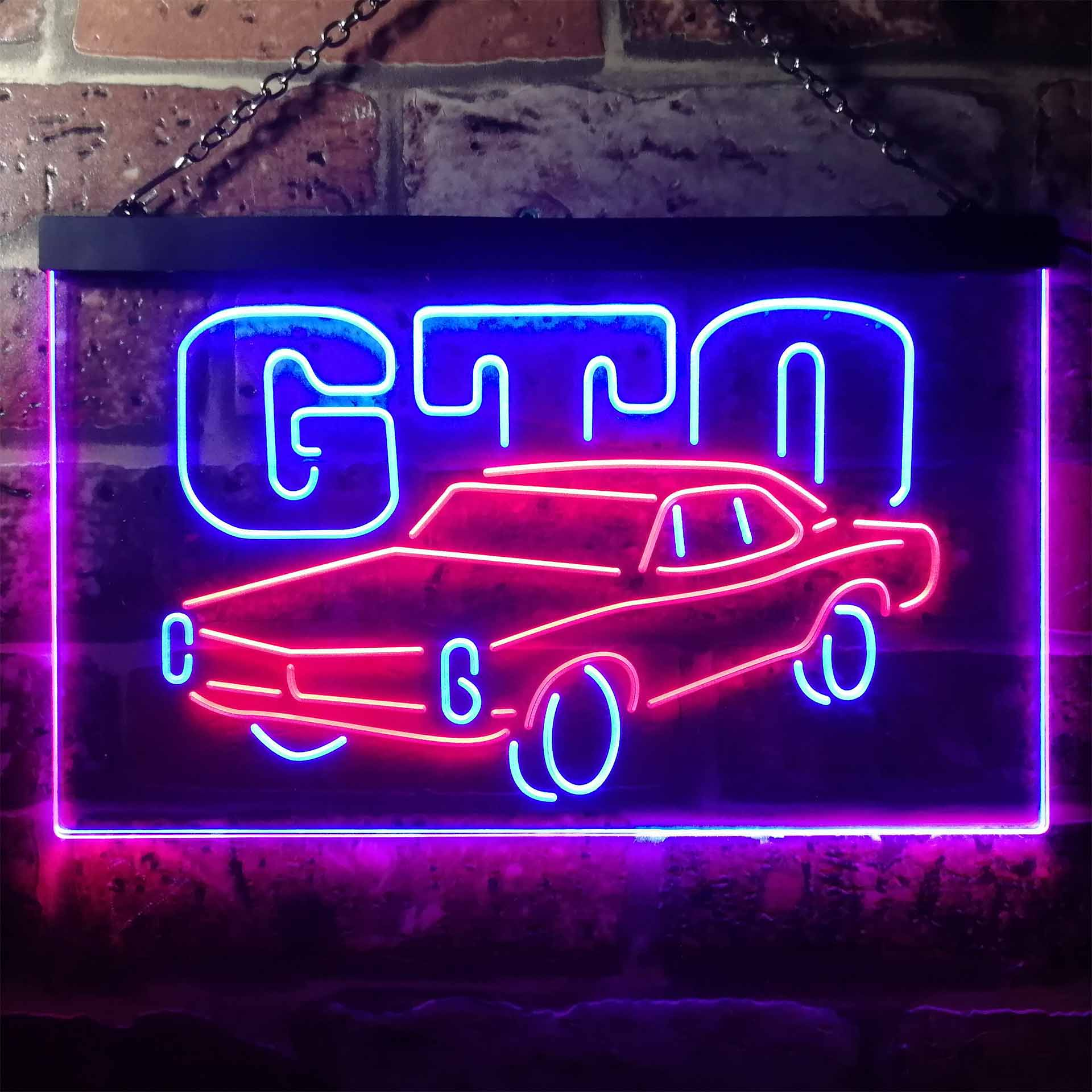 GM American Auto Pontiac GTO Dual Color LED Neon Sign ProLedSign