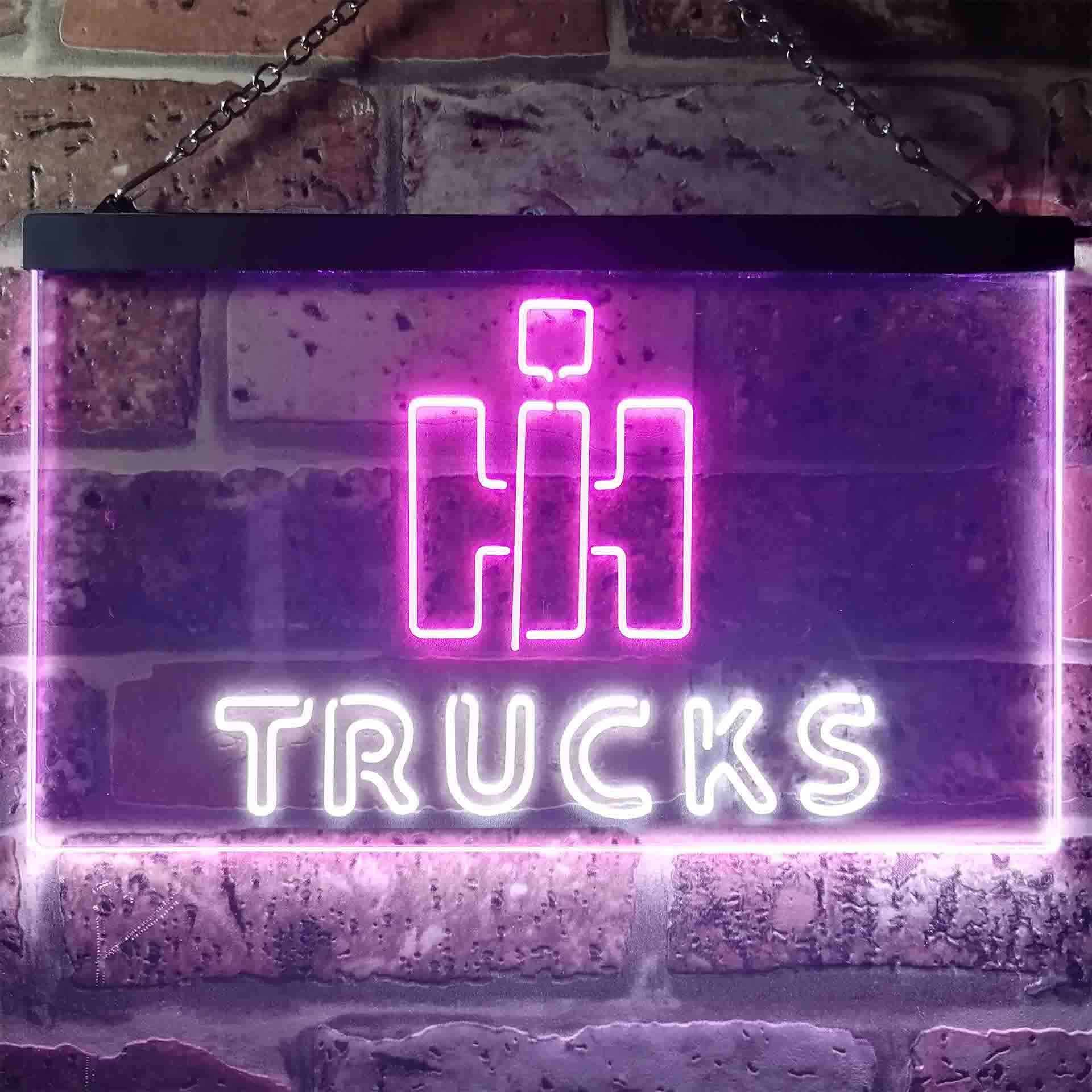 International Harvester Trucks Dual Color LED Neon Sign ProLedSign