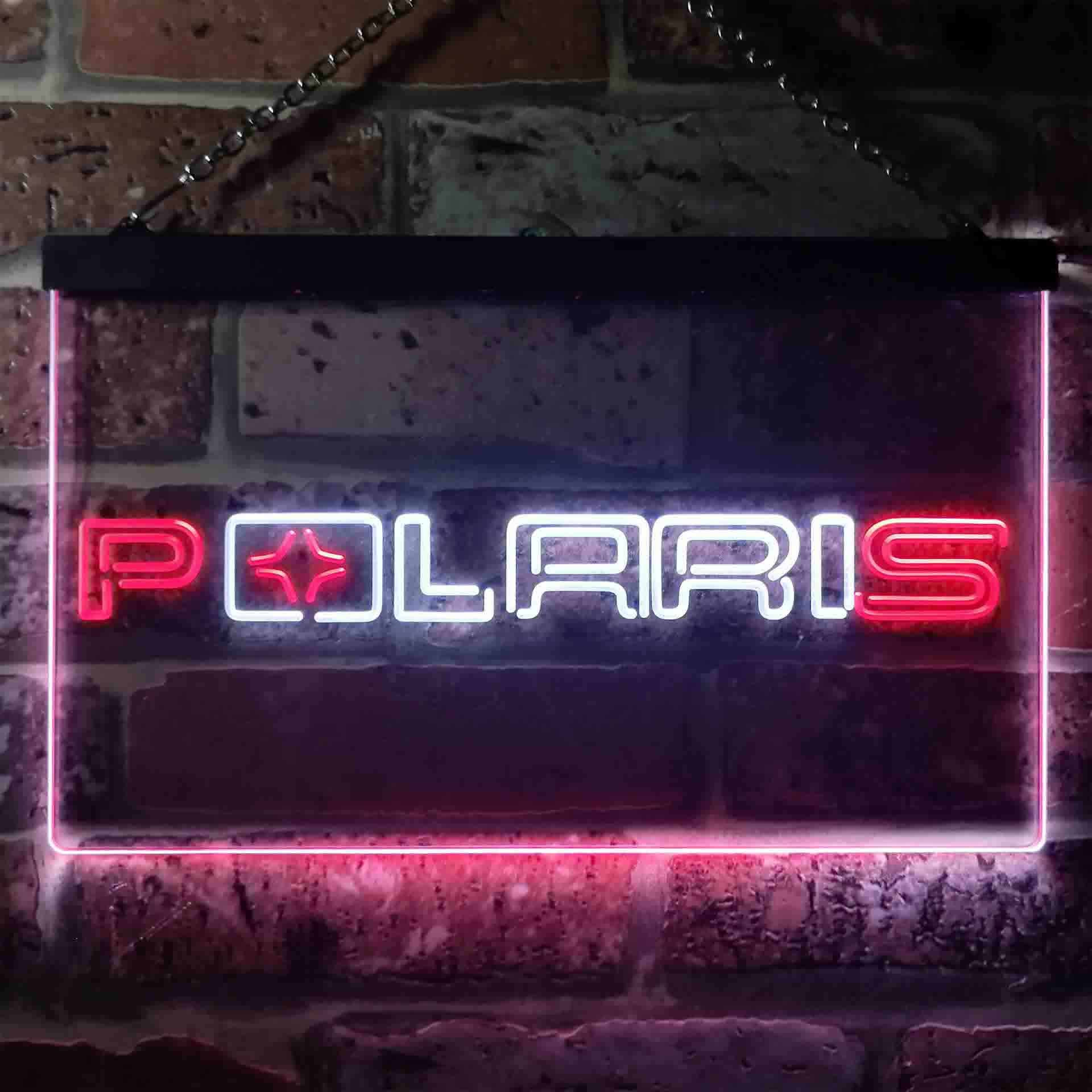 Polaris Snowmobile Dual Color LED Neon Sign ProLedSign